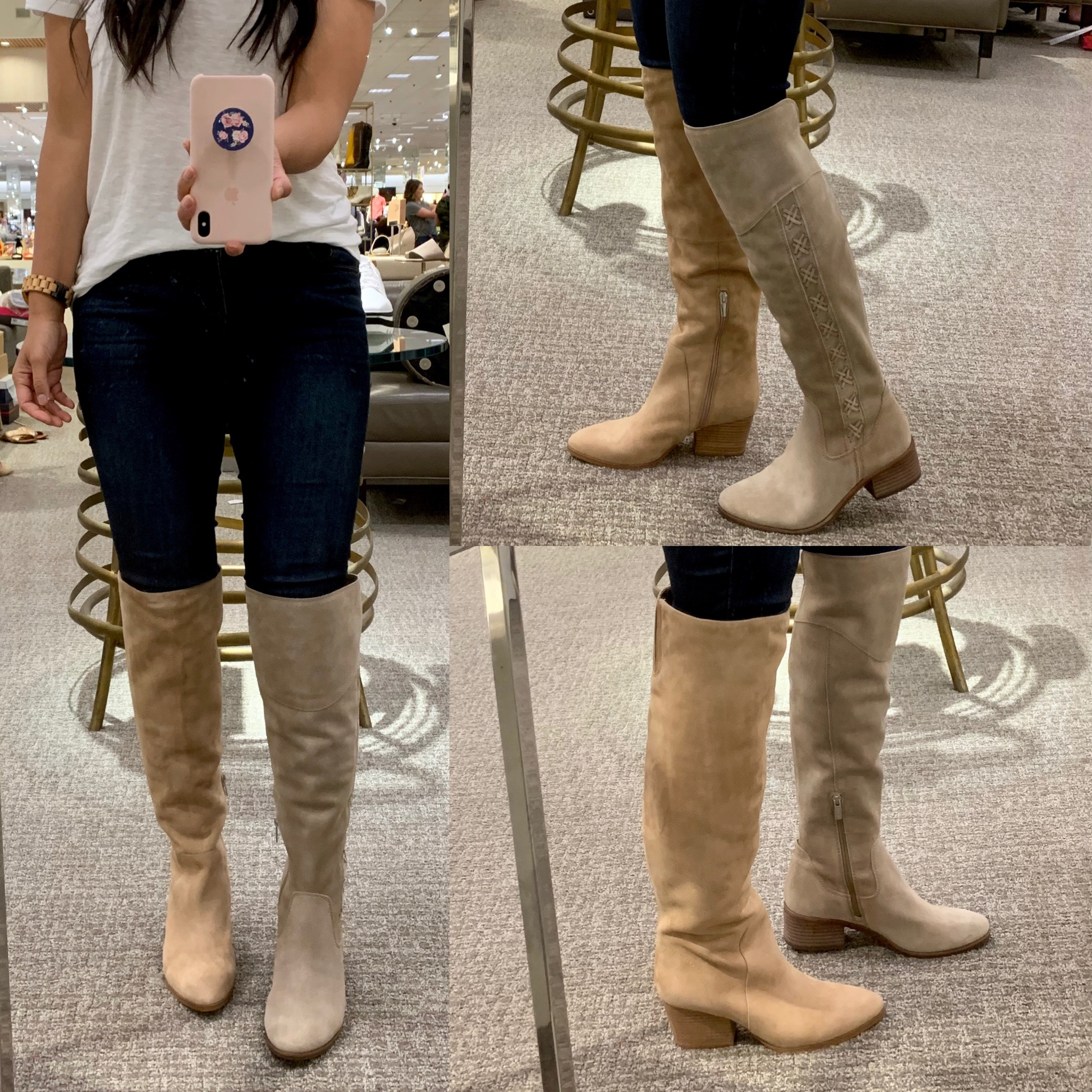 Review of Vince Camuto Taupe Suede Boots