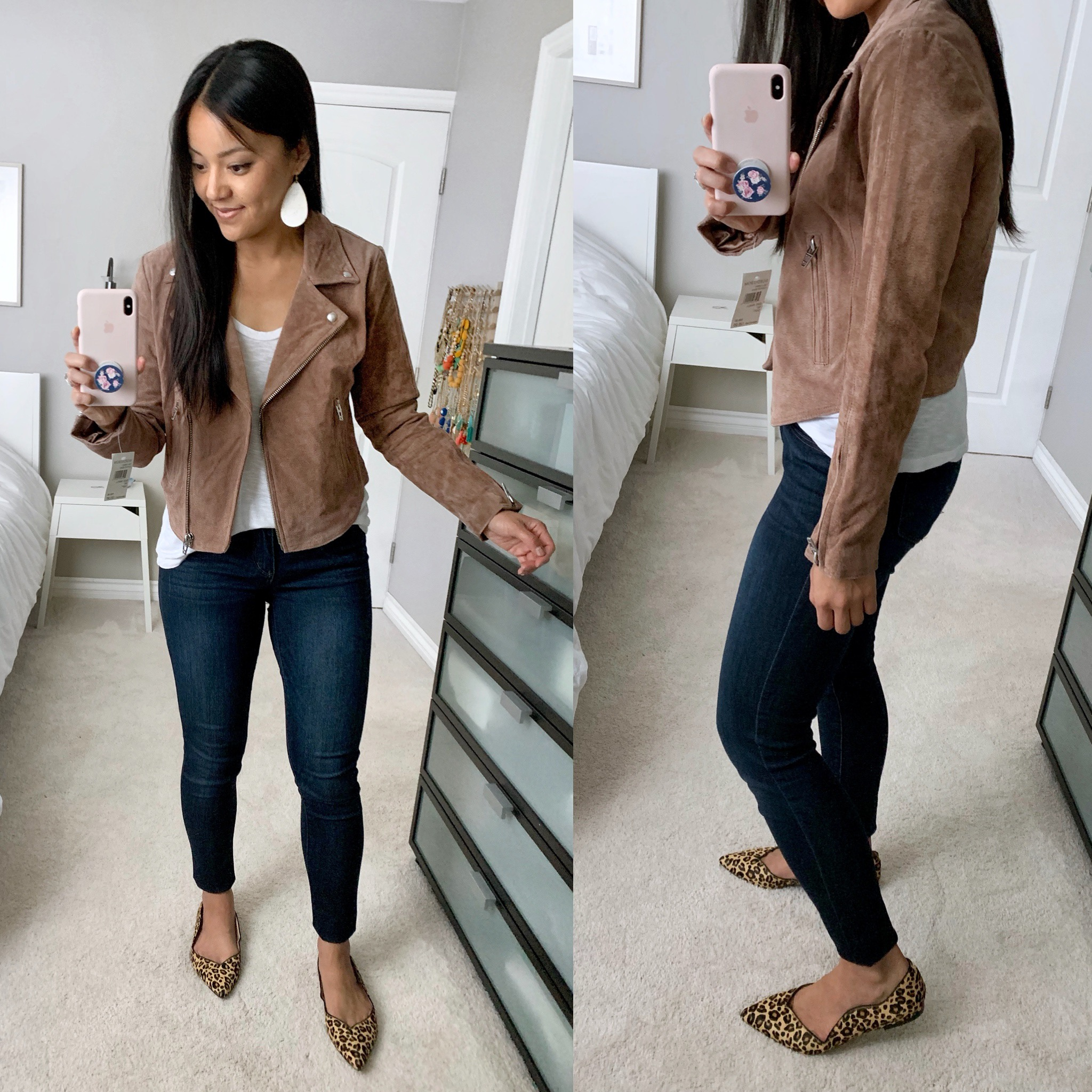 suede moto jacket review