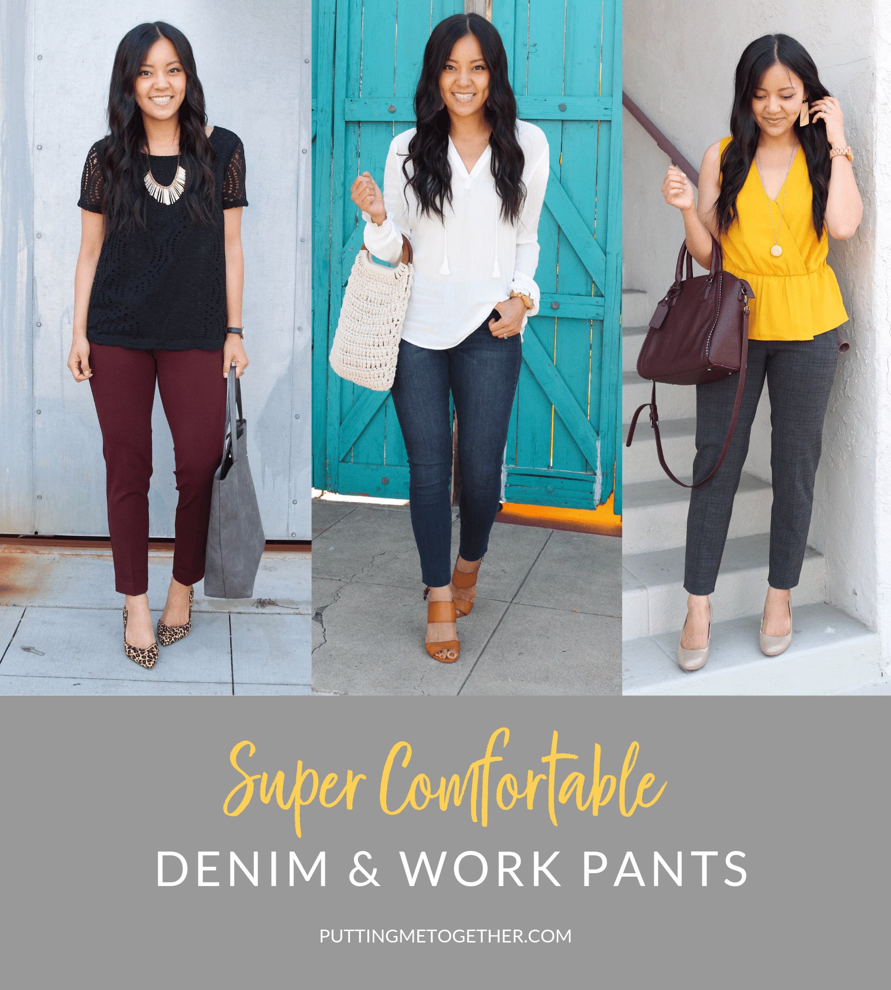 super comfortable denim and work pants