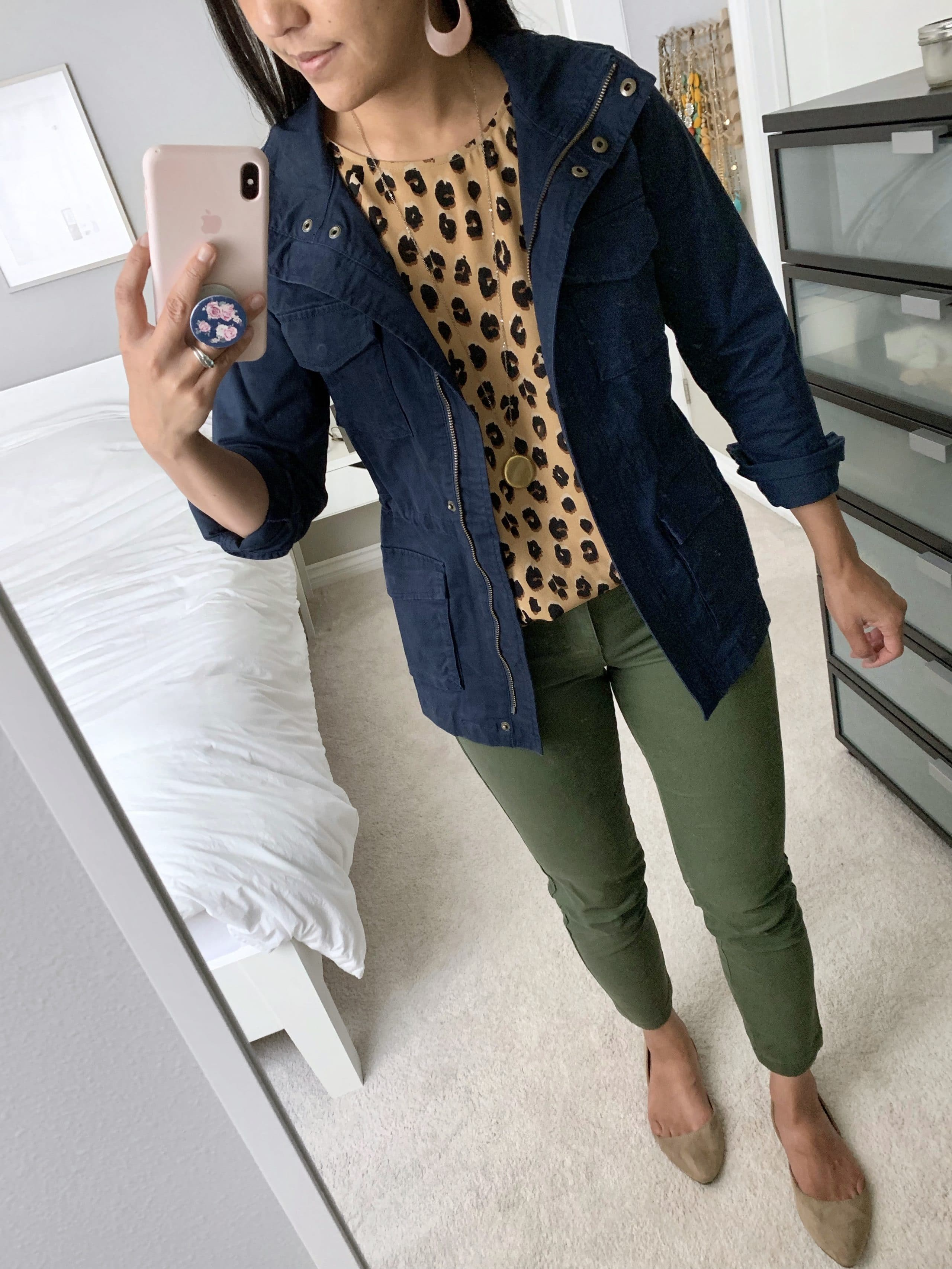 fall casual outfit utility jacket