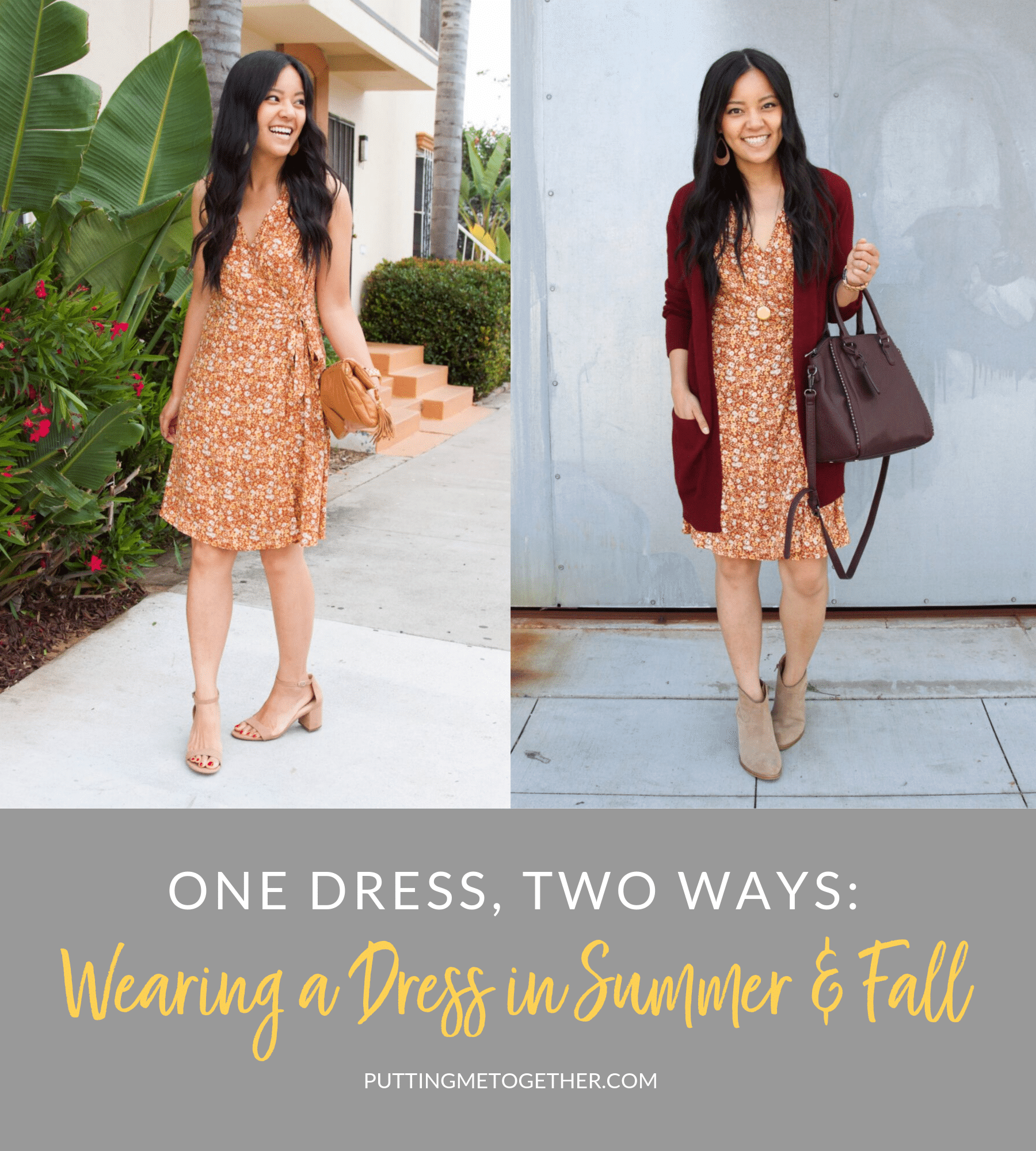 One Dress Two Ways: Wearing a Dress in Summer & Fall