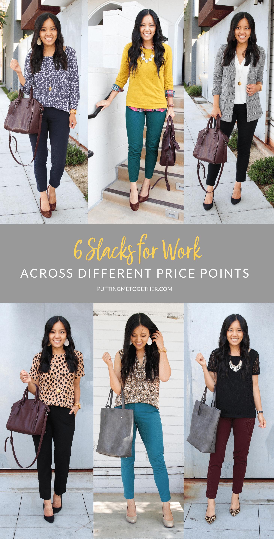 Comparing 6 Slacks for Work