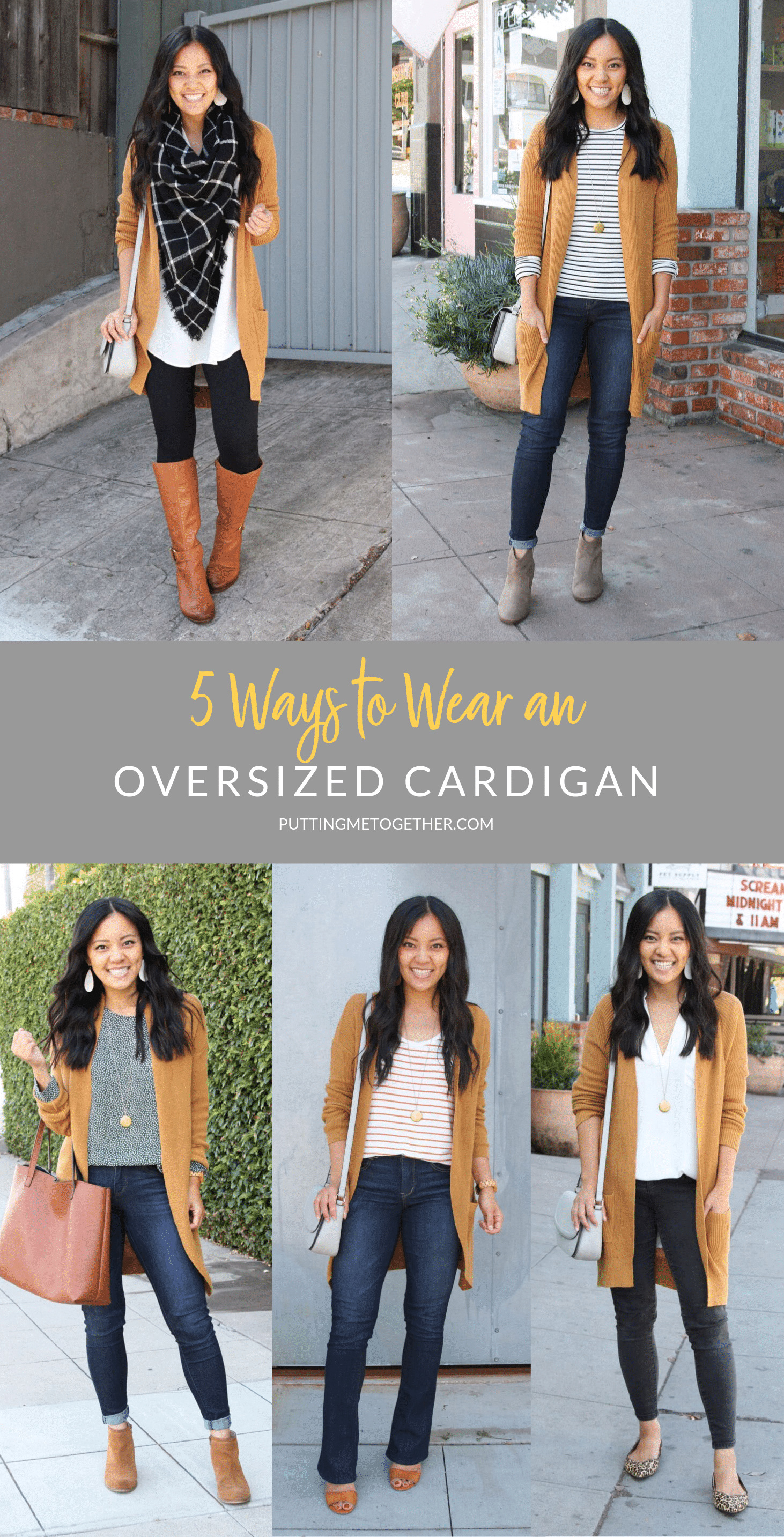 5 Ways to wear an oversized cardigan