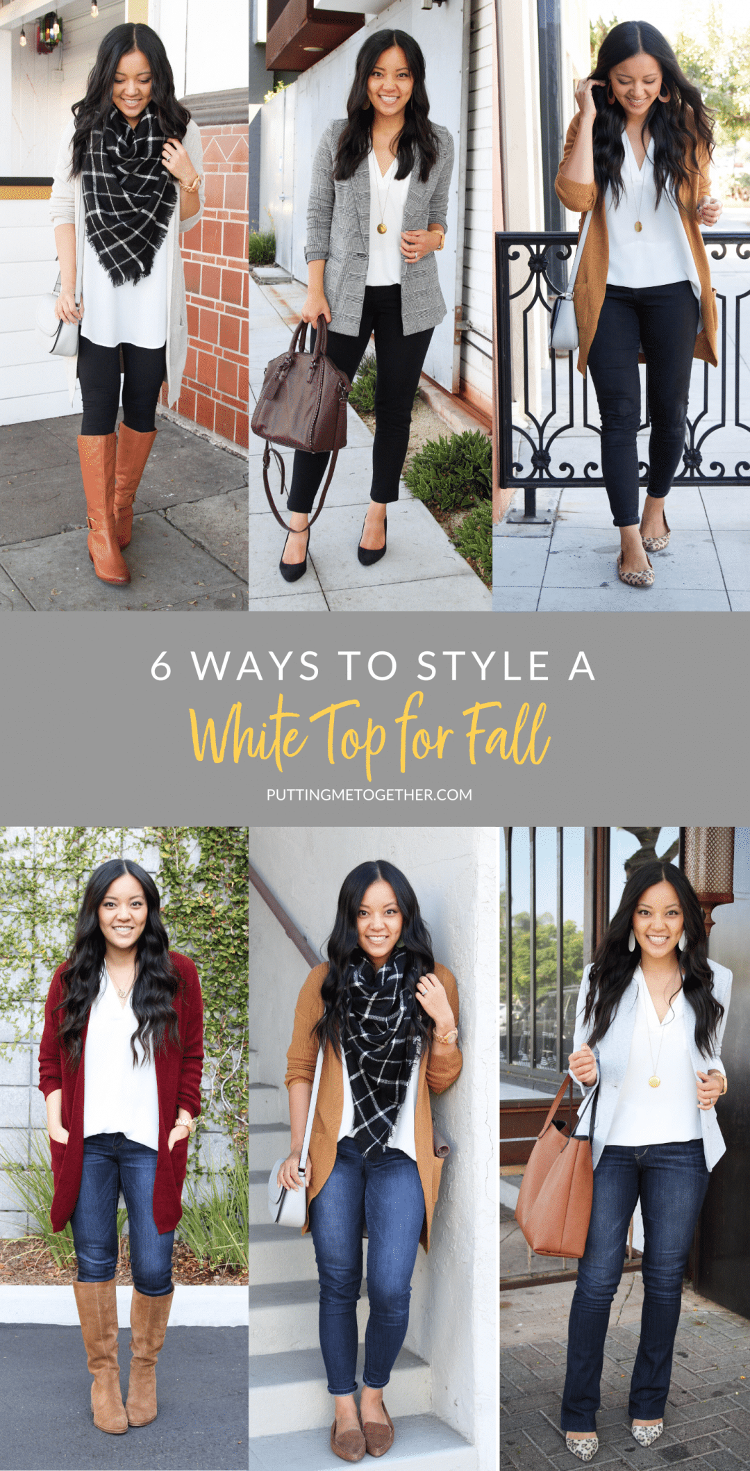 6 Ways to Style a White Top for Fall