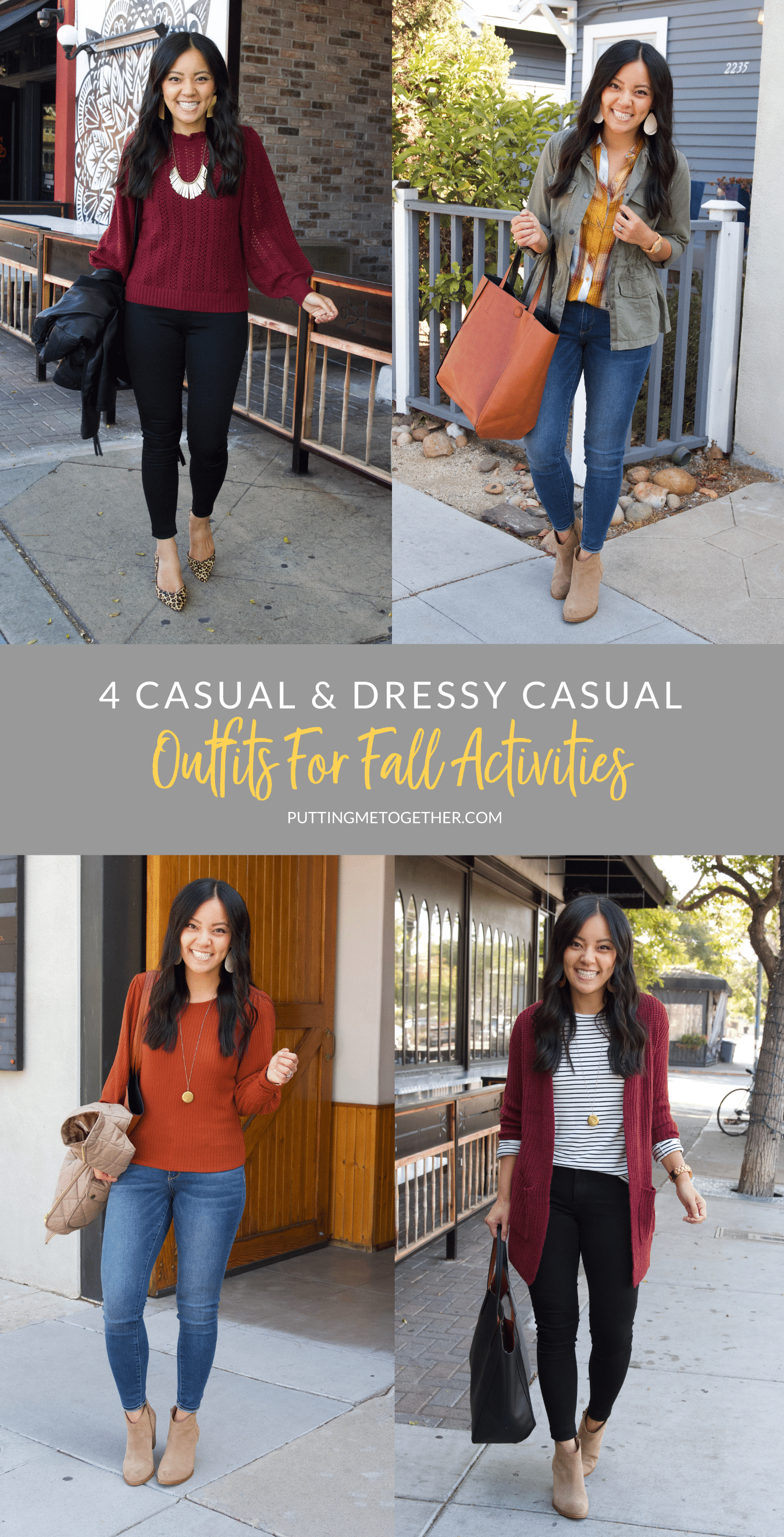 4 Casual & Dressy Casual Fall Outfits