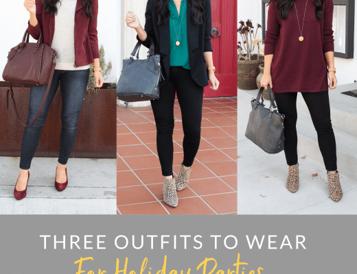 Three Outfits for Holiday Parties