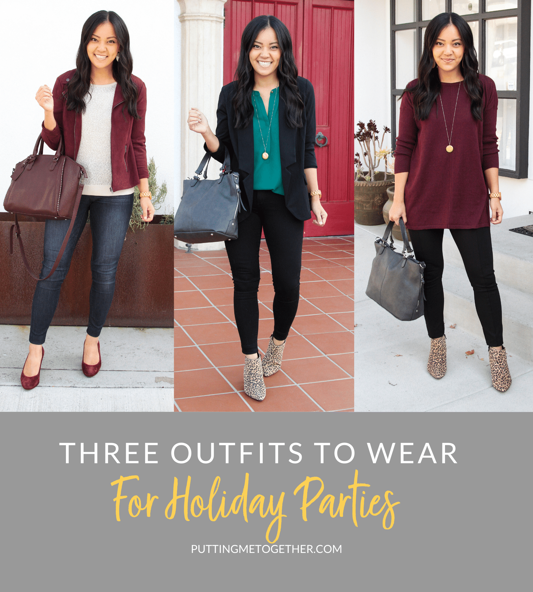 3 Outfits for Holiday Parties