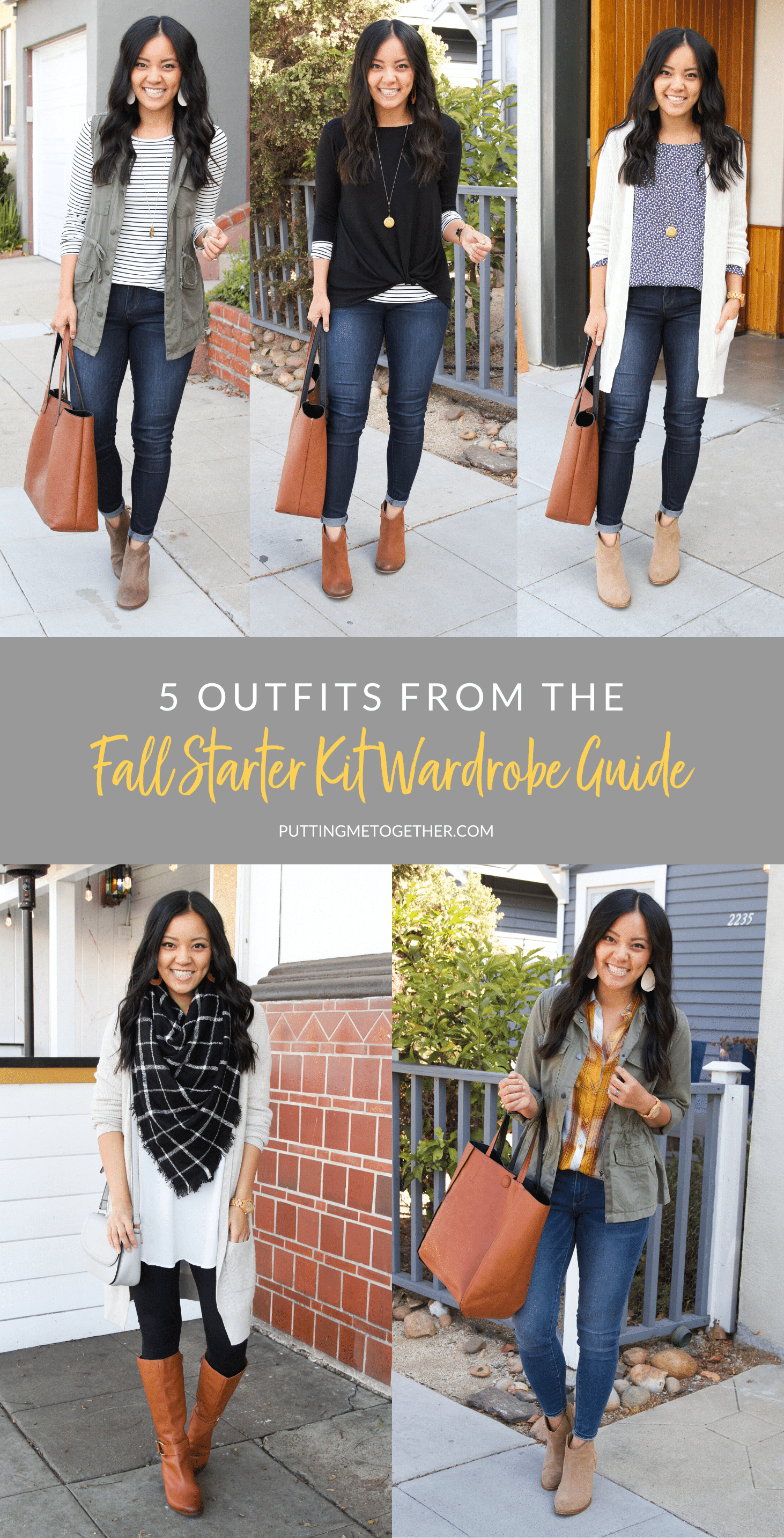 5 Outfits From the Fall Starter Kit Wardrobe Guide