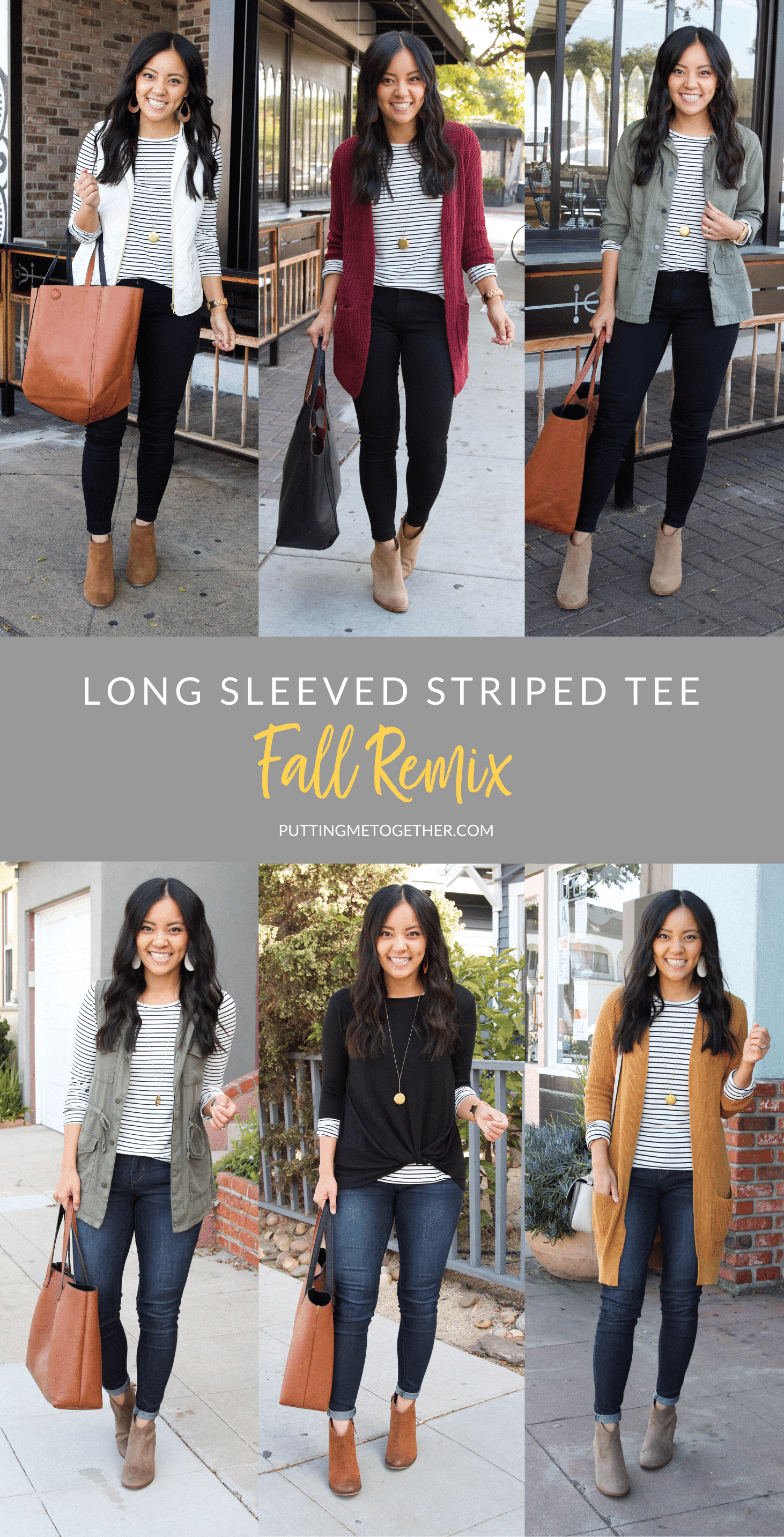 Long Sleeved Striped Tee Outfits