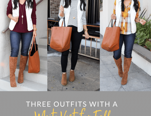 Fall Outfits With a White Vest