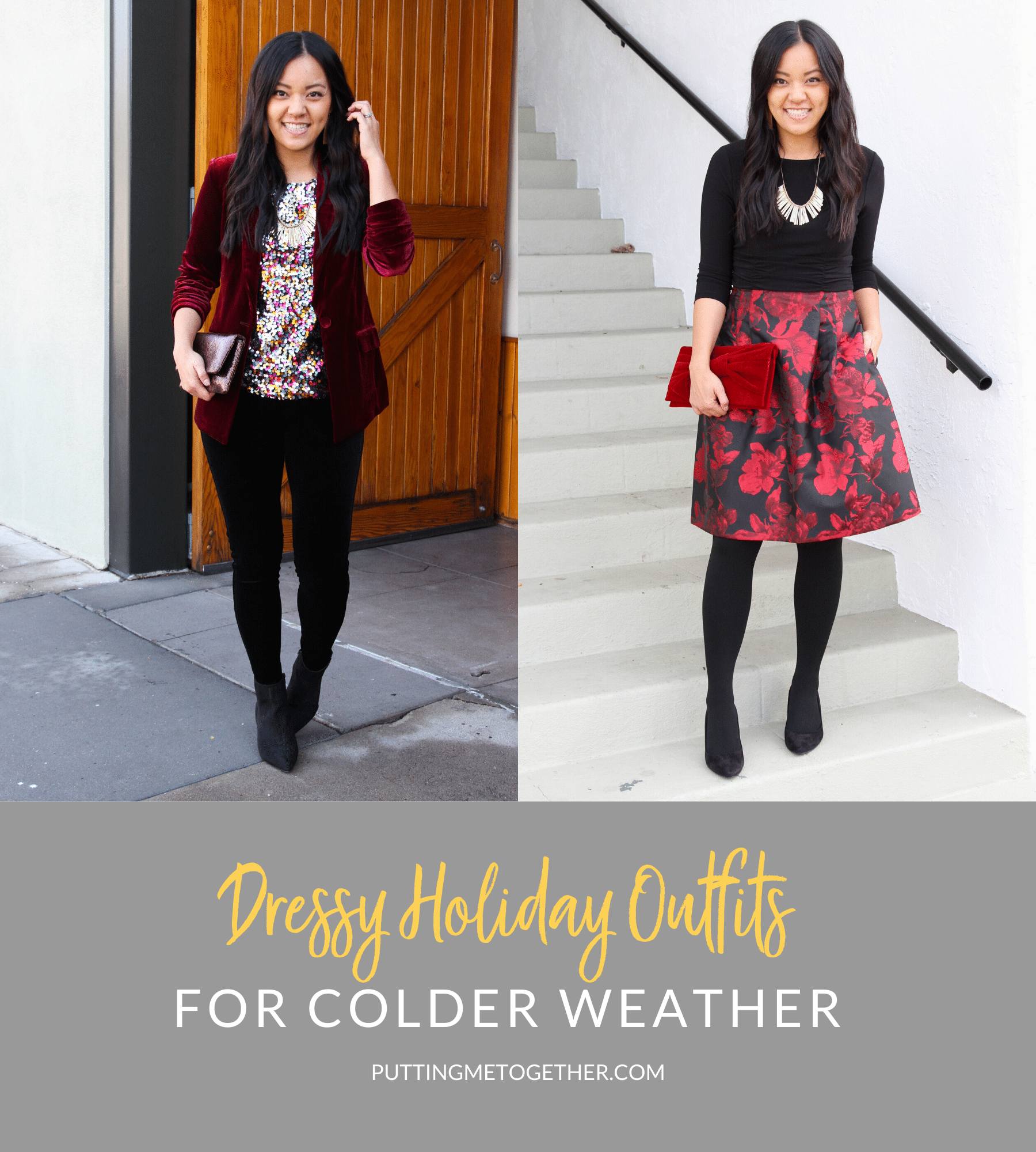 Dressy Holiday Outfits For Colder Weather