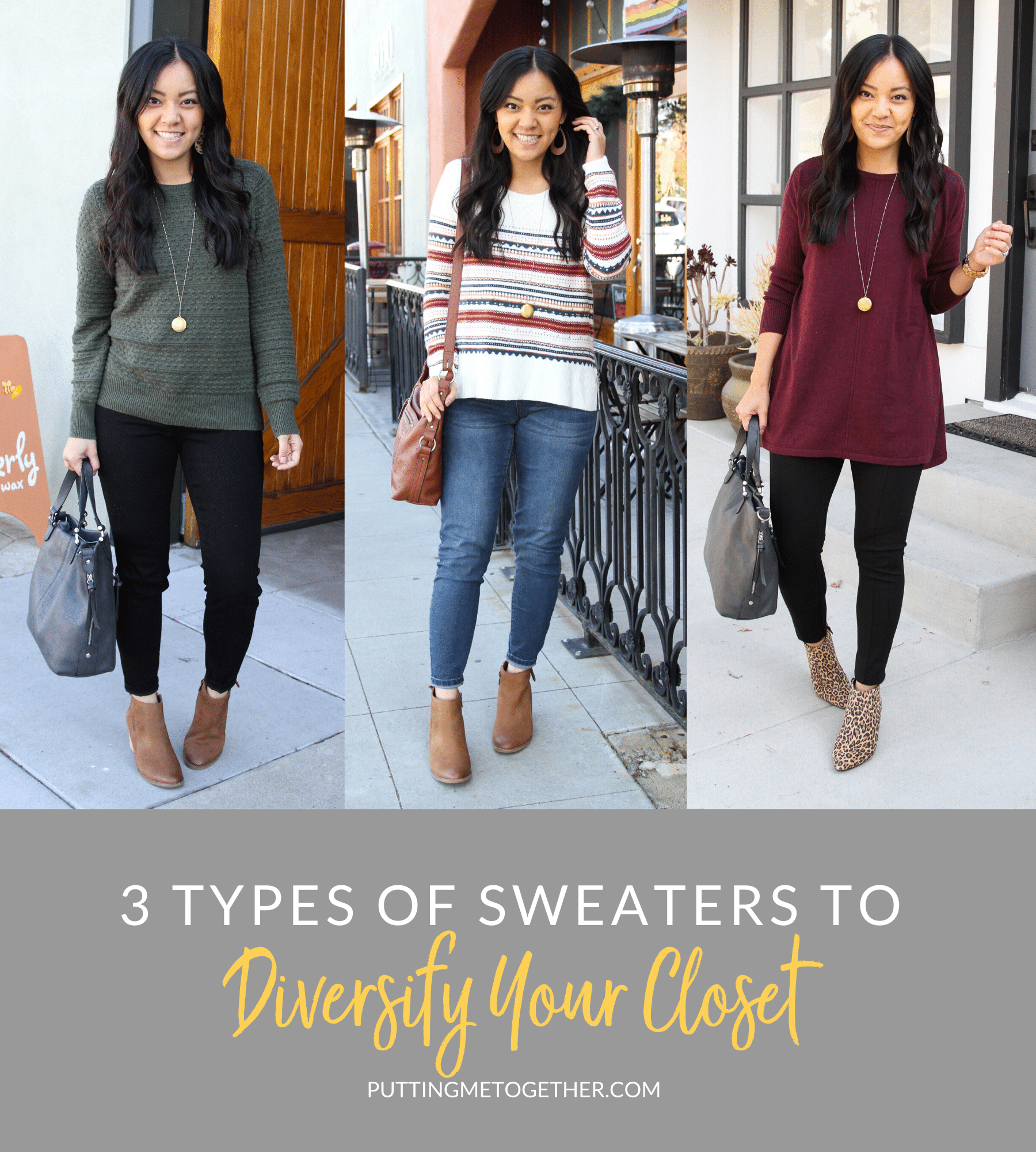 3 Types of Sweaters to Diversify Your Closet