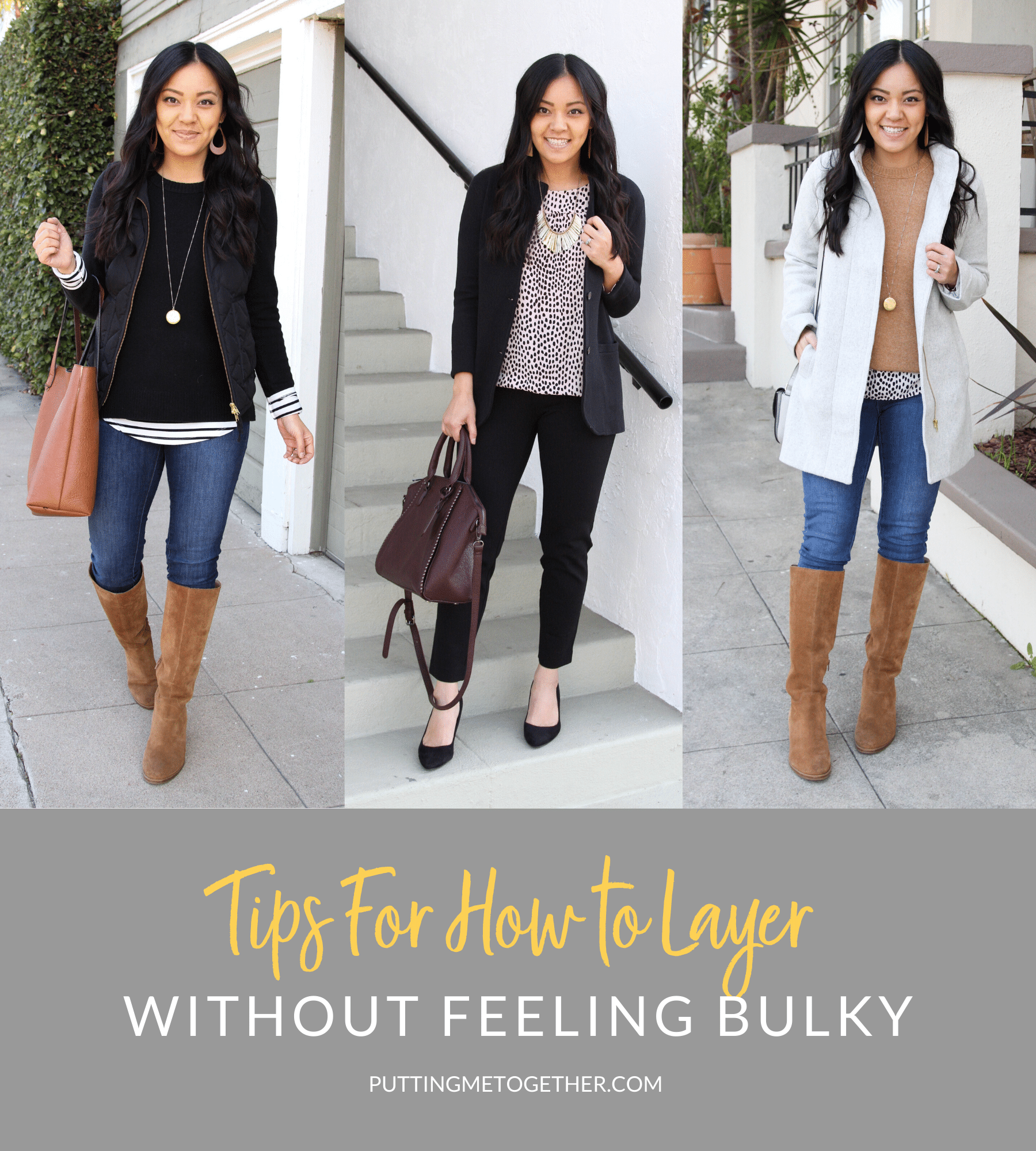 Tips for How to Layer Without Feeling Bulky