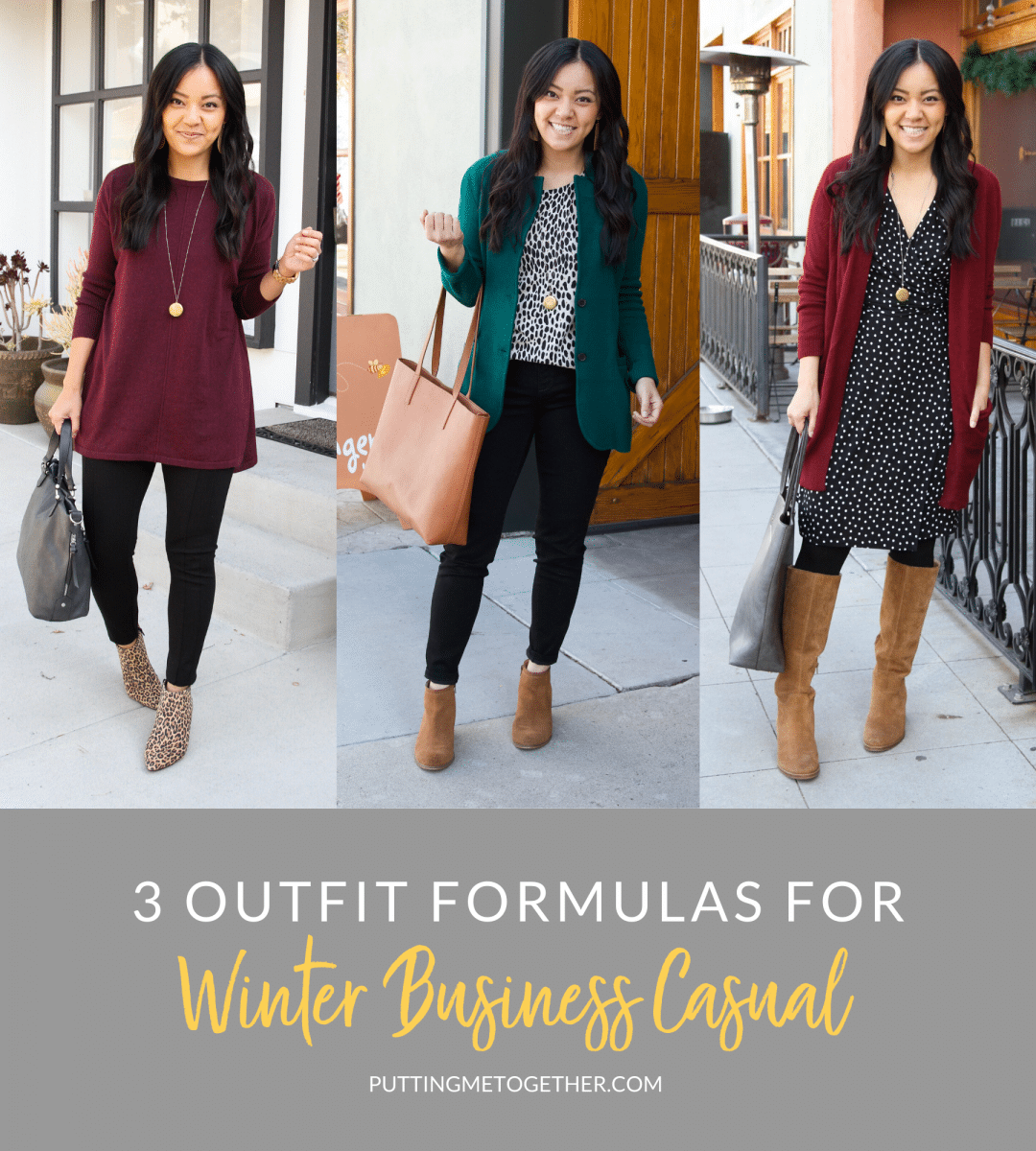 Three Winter Business Casual Outfit