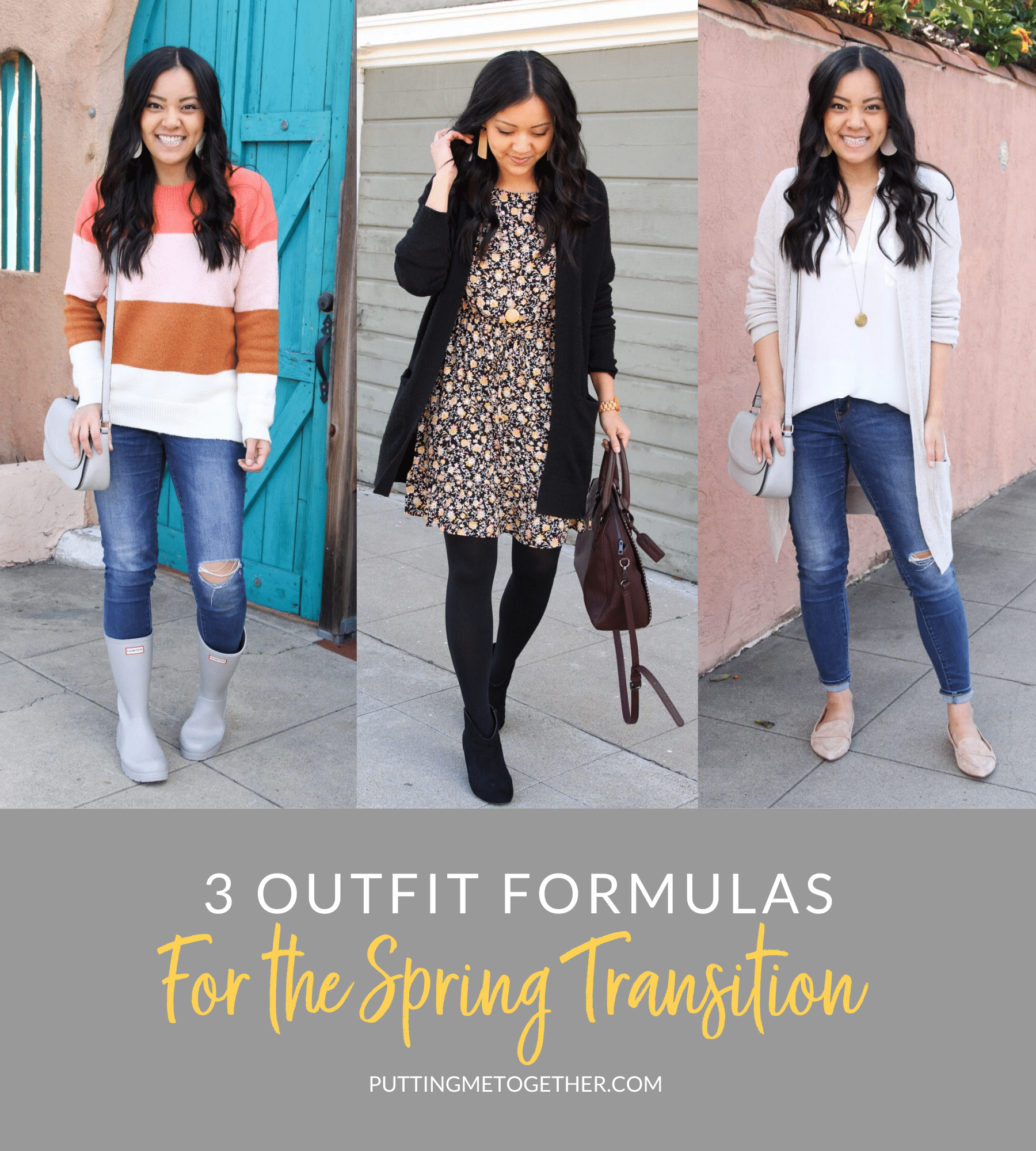 3 Outfit Formulas for the Spring Transition