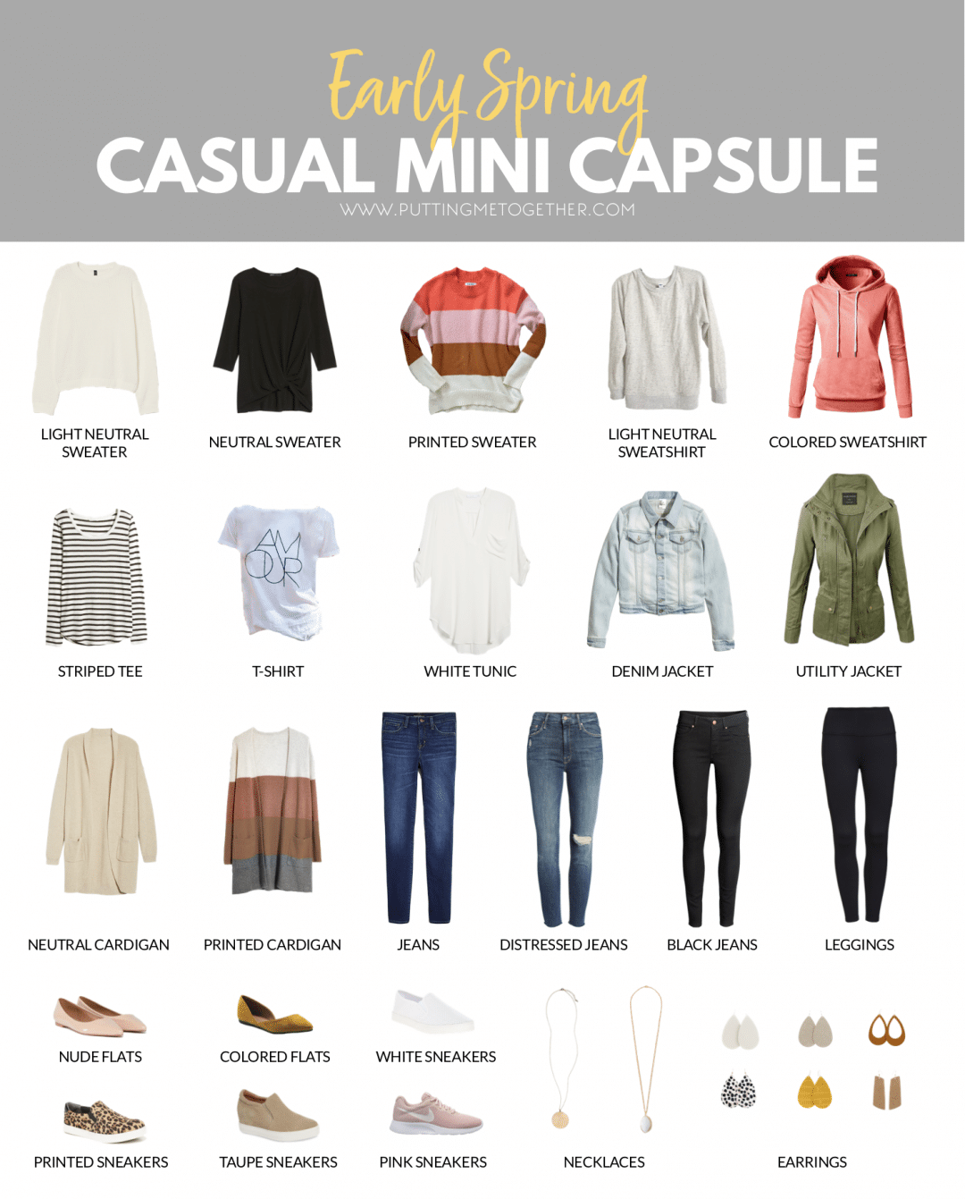 Mini Early Spring Casual Capsule Wardrobe