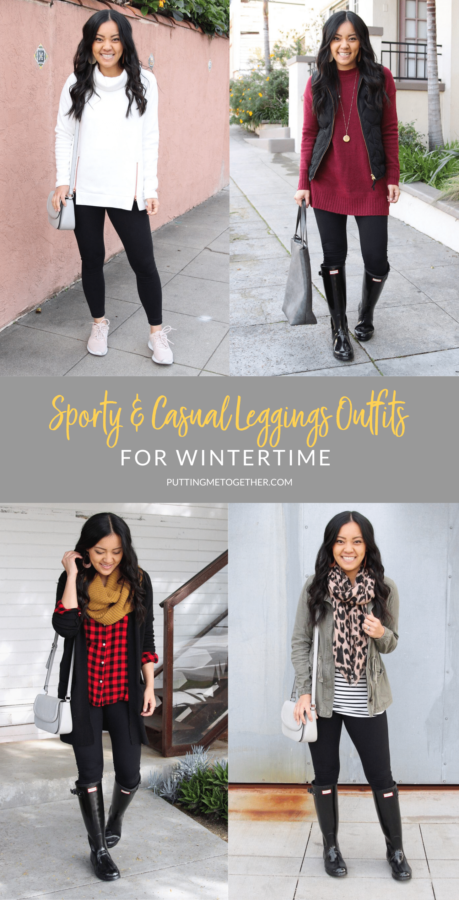 Sporty and Casual Leggings Outfits for Winter