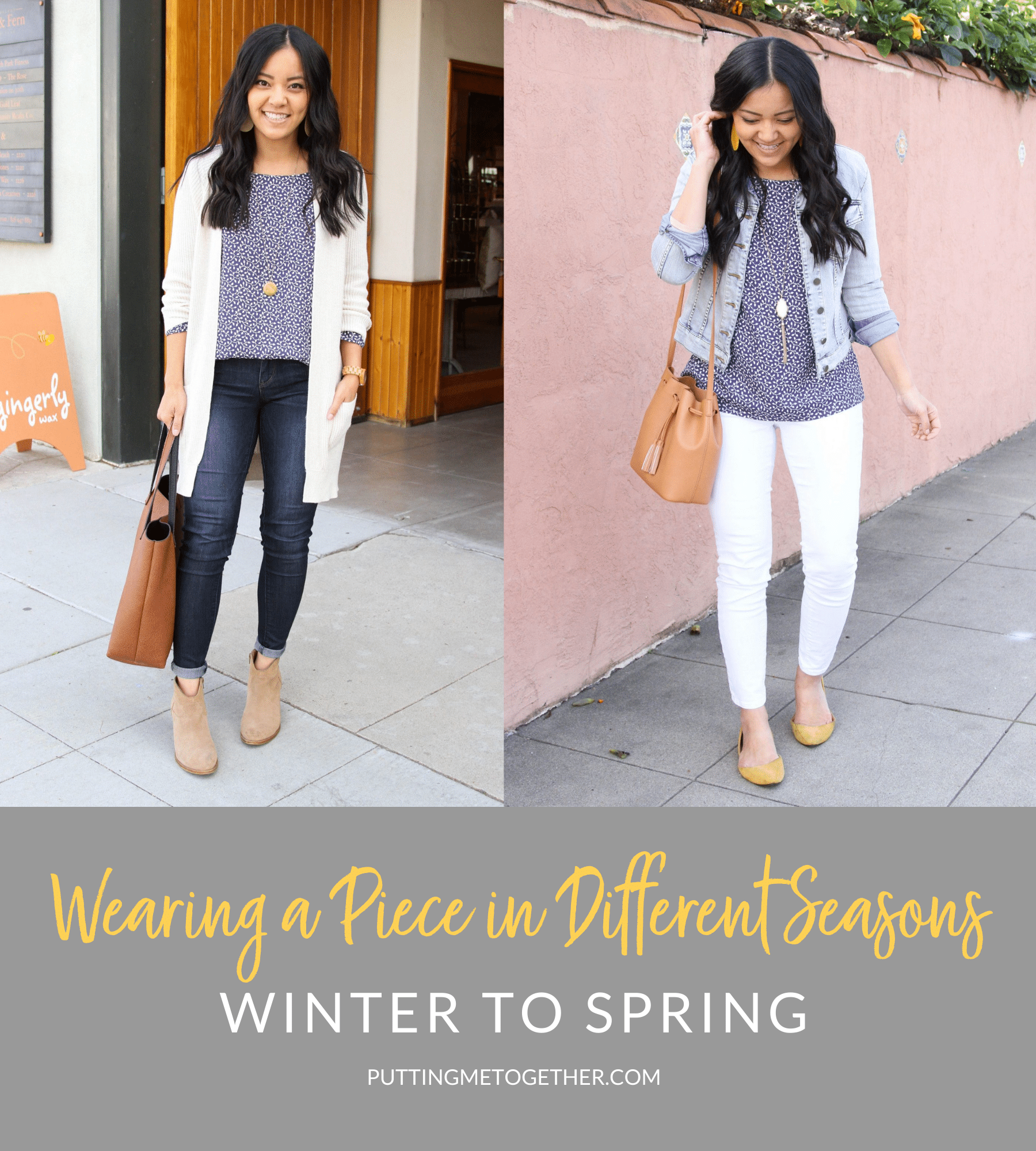 Wearing a Piece in Different Seasons, Winter to Spring