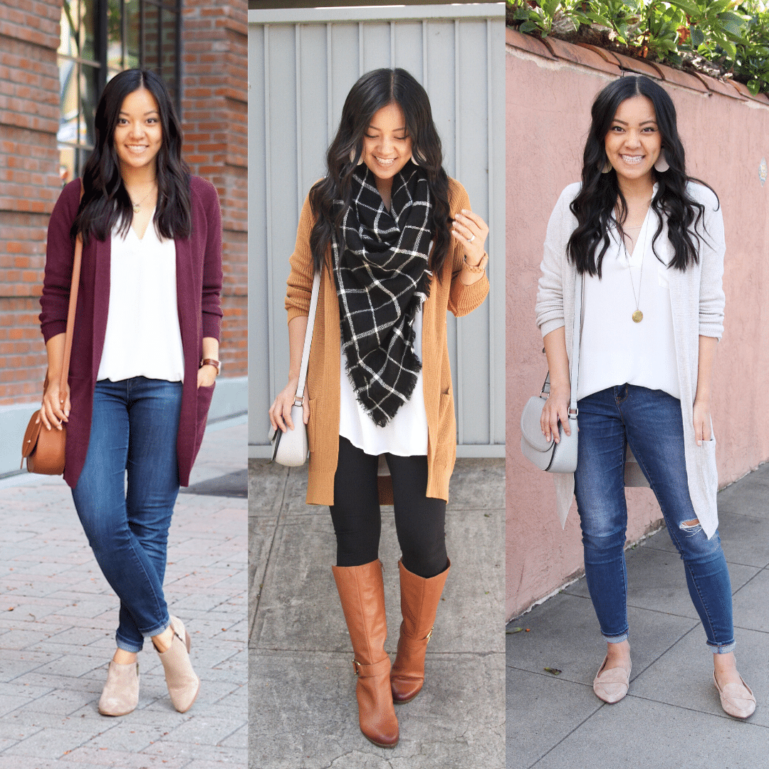 White Tunic 3 Ways: Fall, Winter, Spring