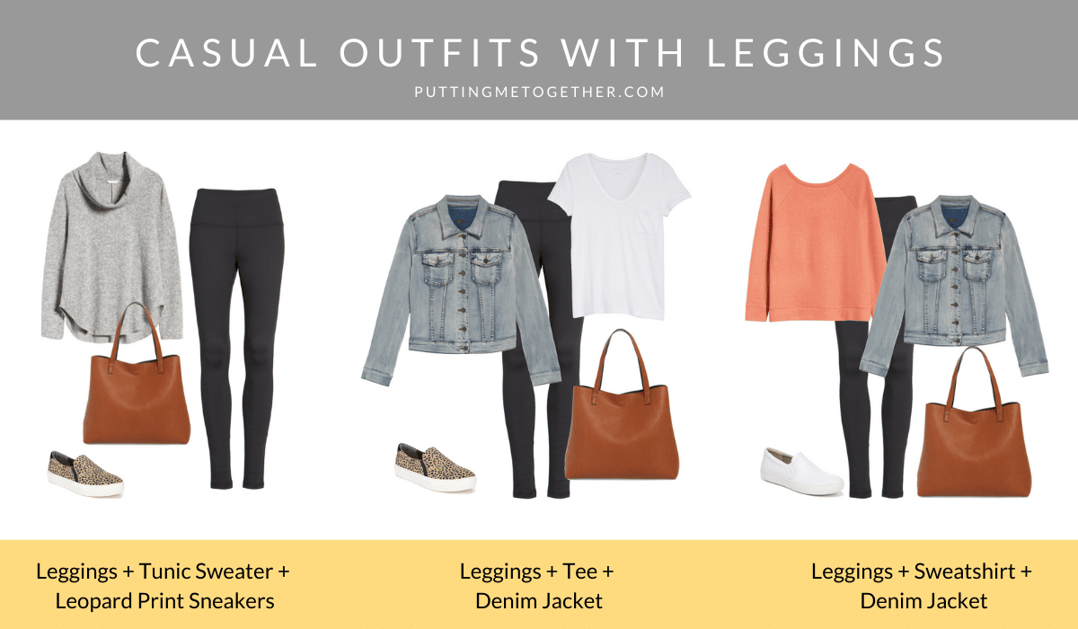 Casual Outfits with Leggings and Outfit Formulas