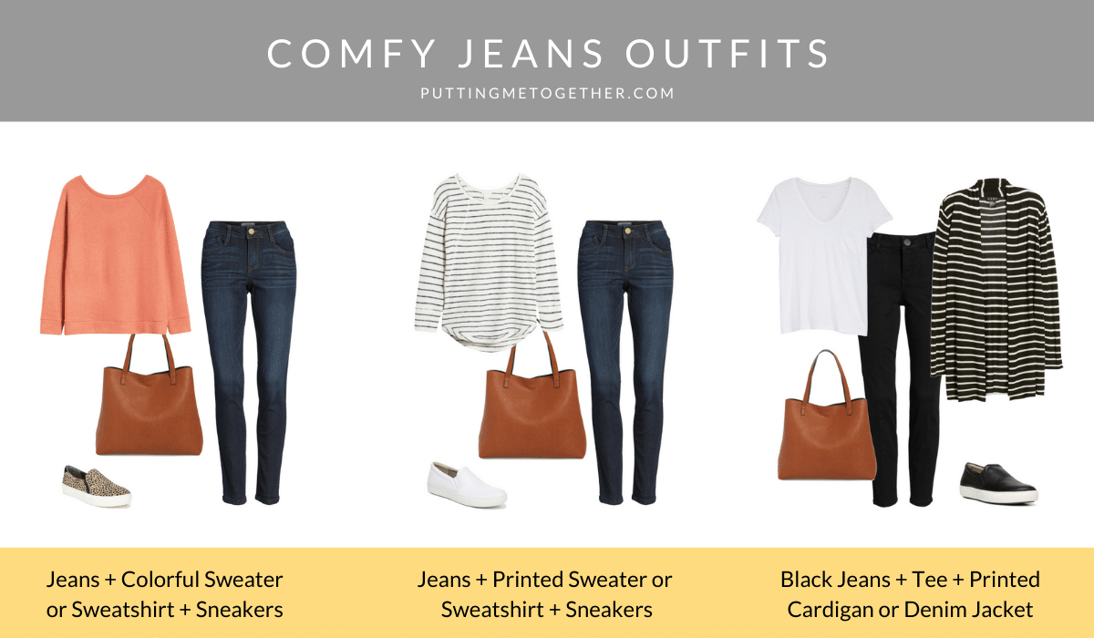 Comfy Jeans Outfits and Outfit Formulas