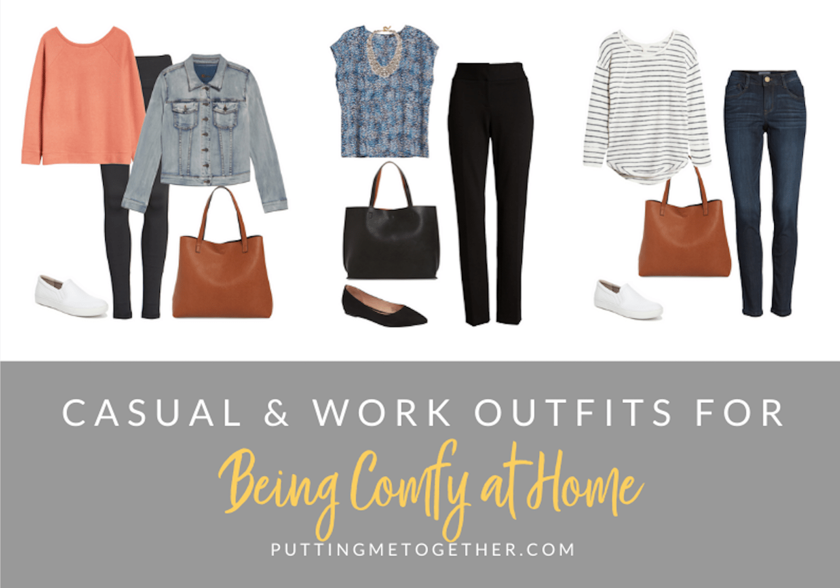 16 Outfit Formulas Casual and Work Outfits for Being Comfy at Home