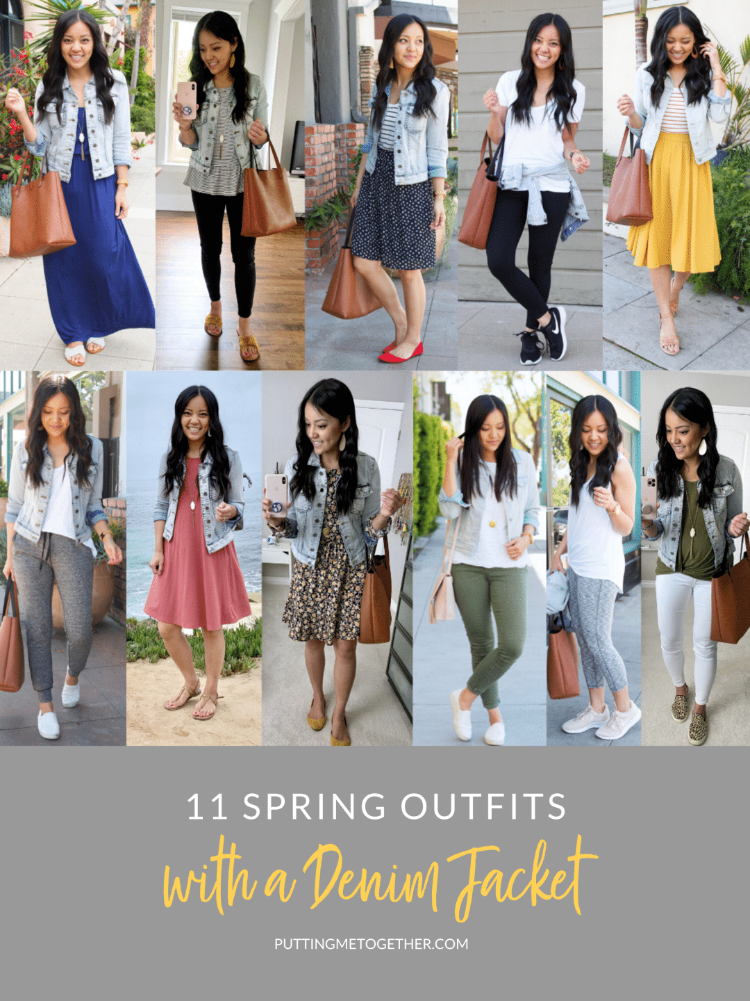 11 Spring Outfits With a Denim Jacket You Can Copy