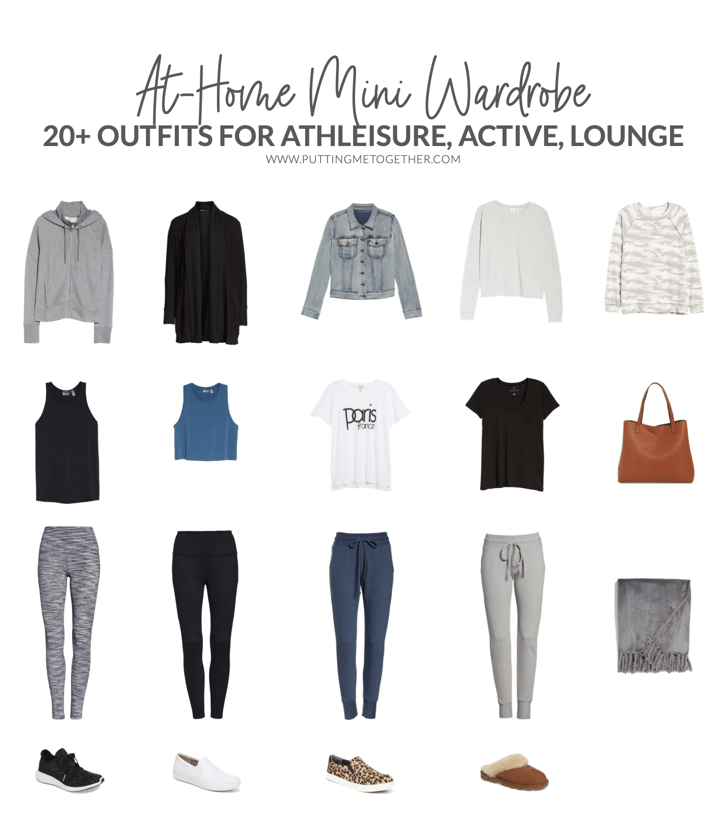 Comfy At-Home Wardrobe for Athleisure, Activewear, Loungewear - 20 Outfits