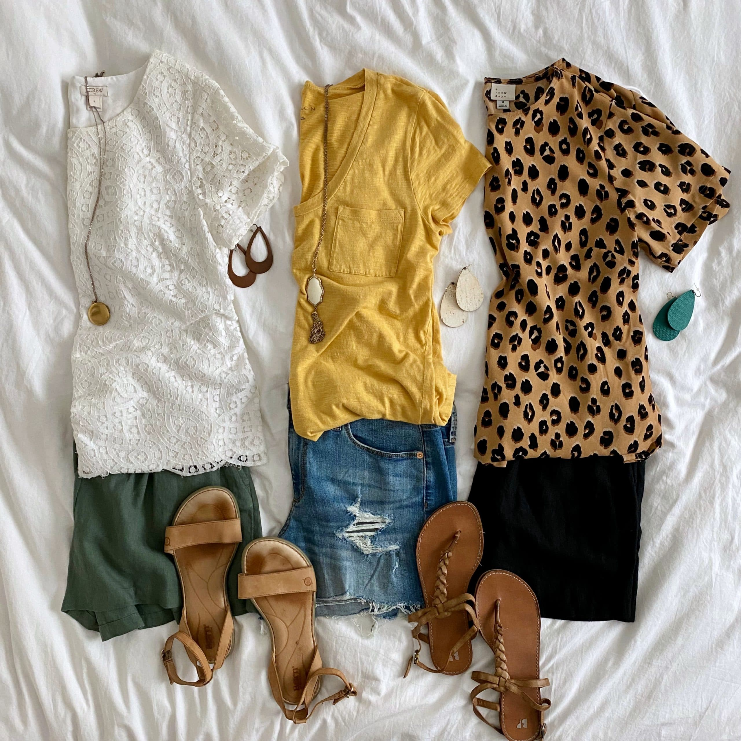 3 Easy Casual Summer Shorts Outfits