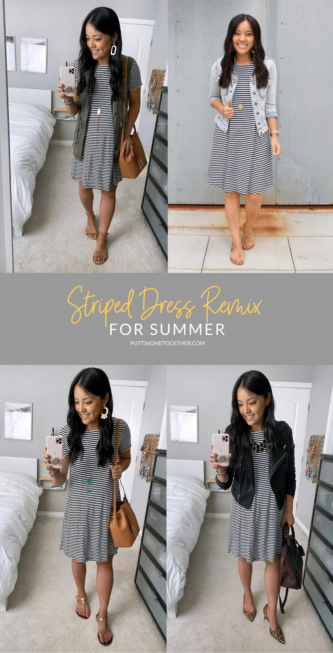 Striped Dress Remix For Summer