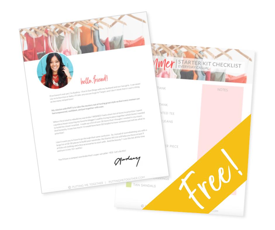Summer Starter Kit Wardrobe Checklist Freebie
