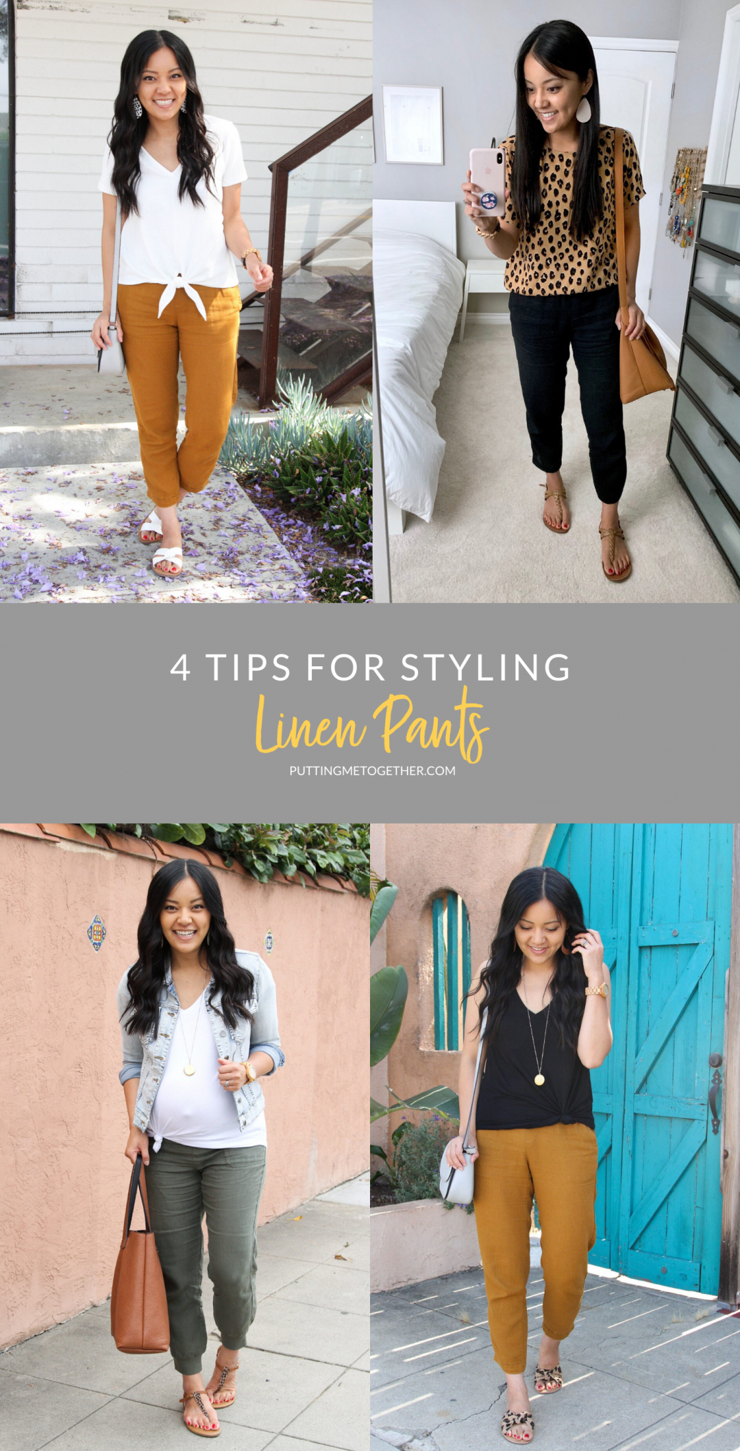 4 Tips for styling linen pants for summer