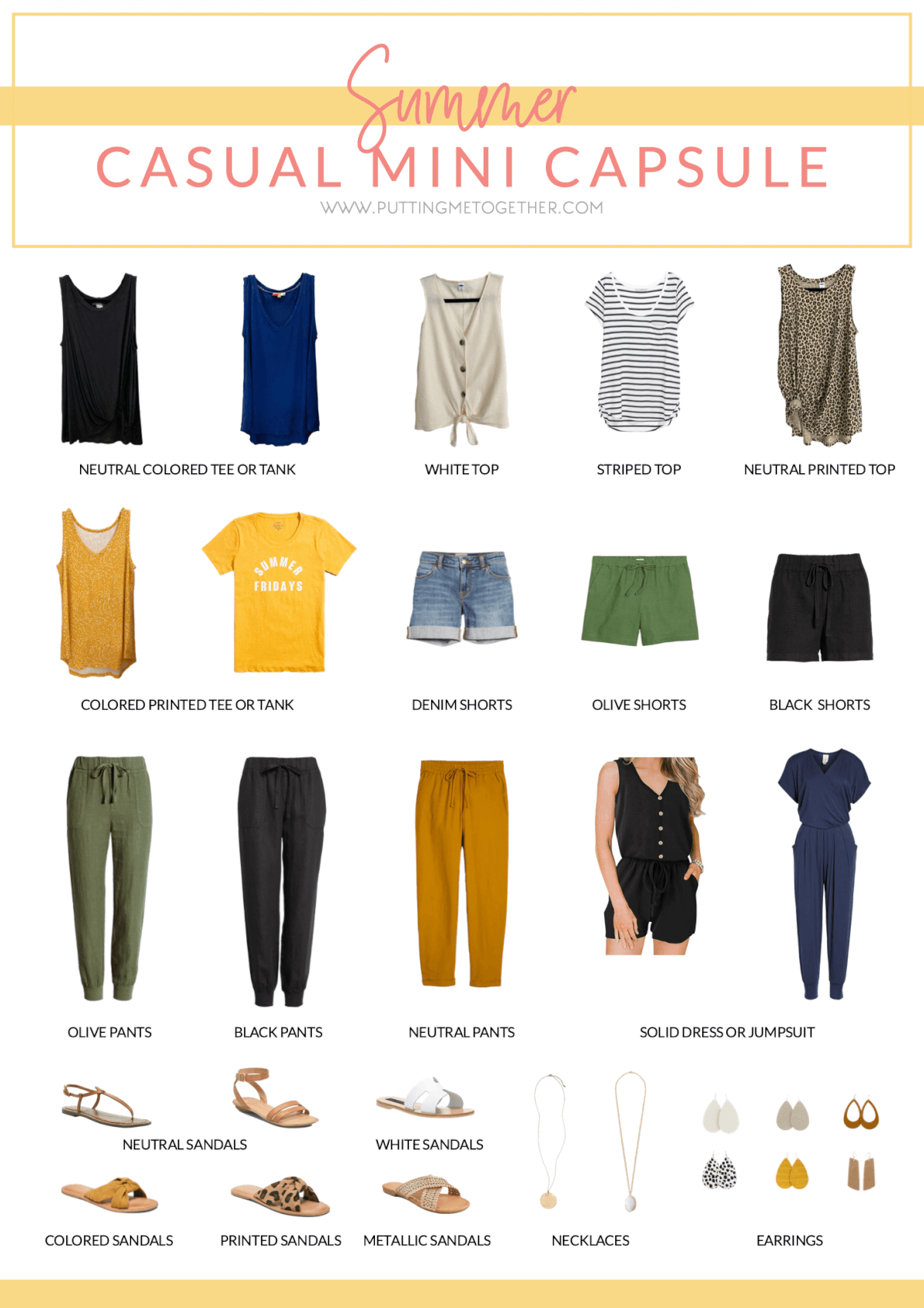 Mini Summer Capsule Wardrobe Breastfeeding Friendly