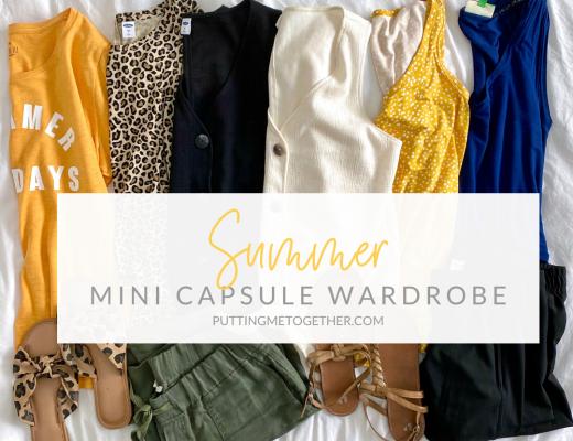 Mini Summer Capsule Wardrobe Breastfeeding Friendly