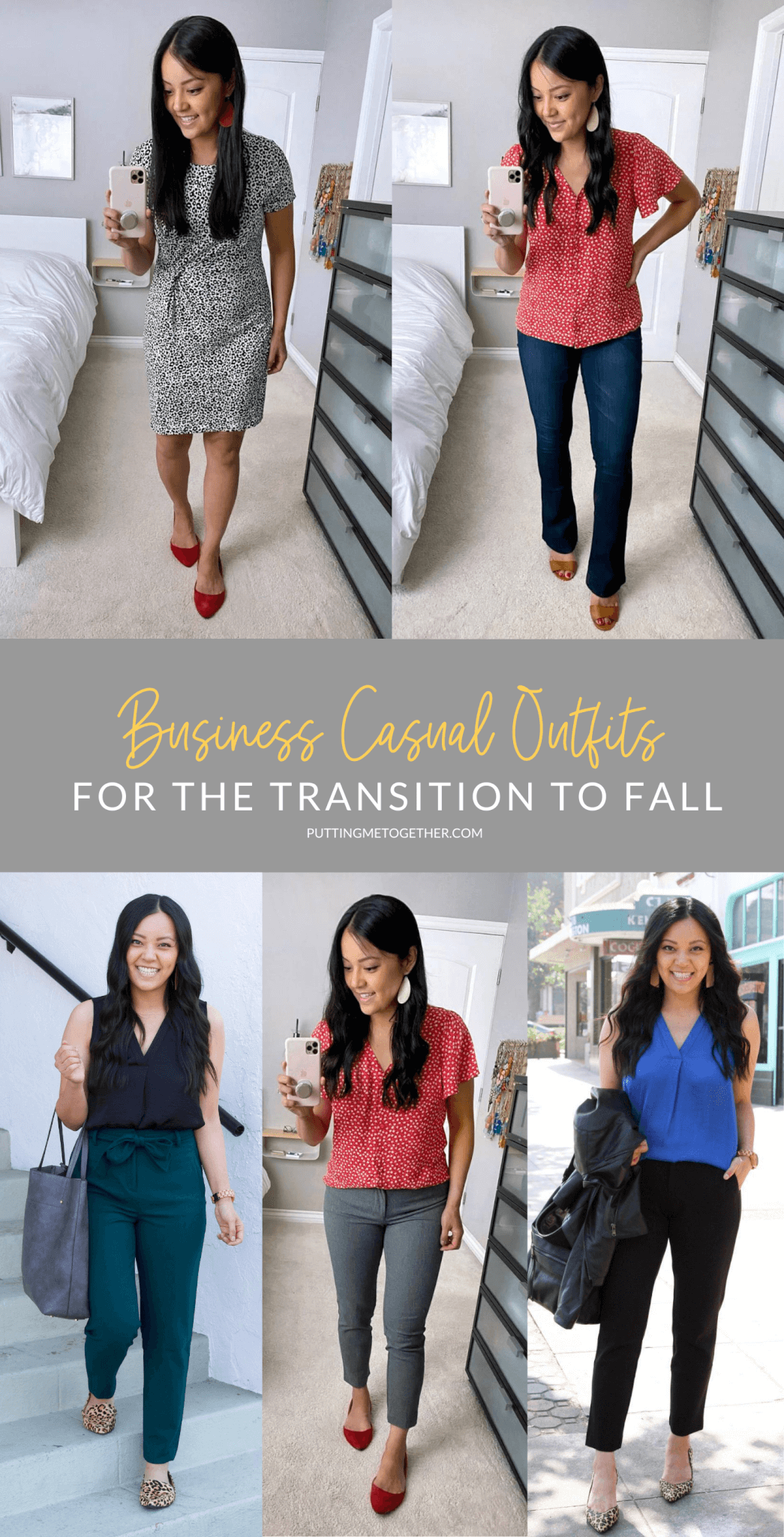 Business Casual Outfits for the Transition to Fall