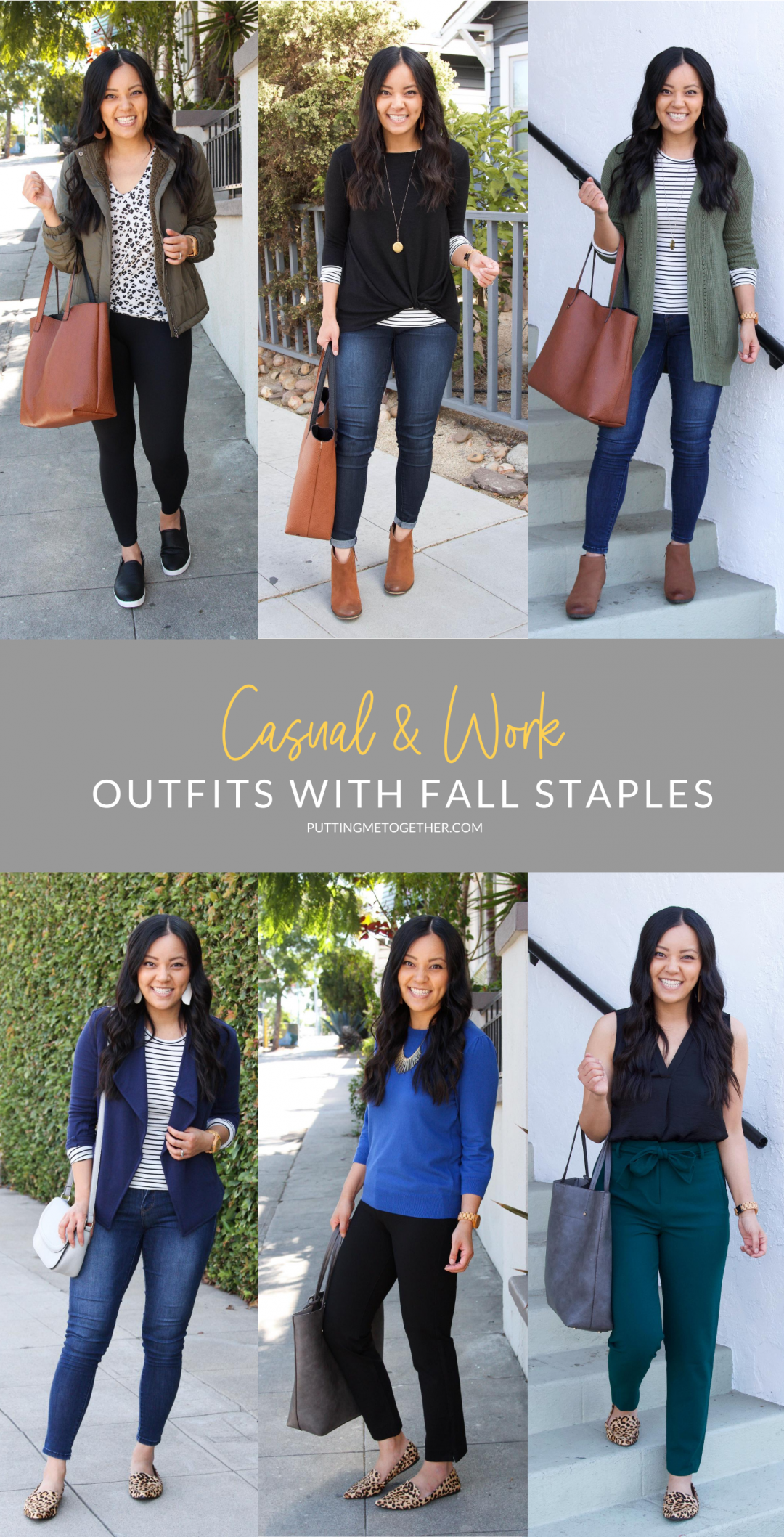Fall Staples for Casual and Work Outfits