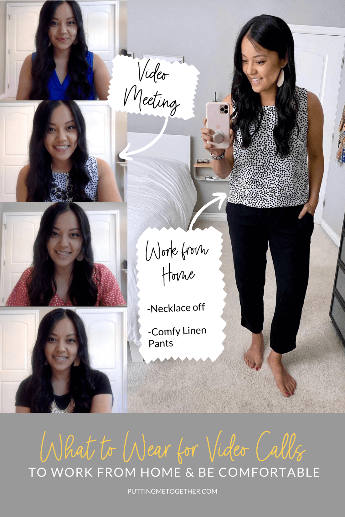 What to wear for video calls--to work from home and be comfy!