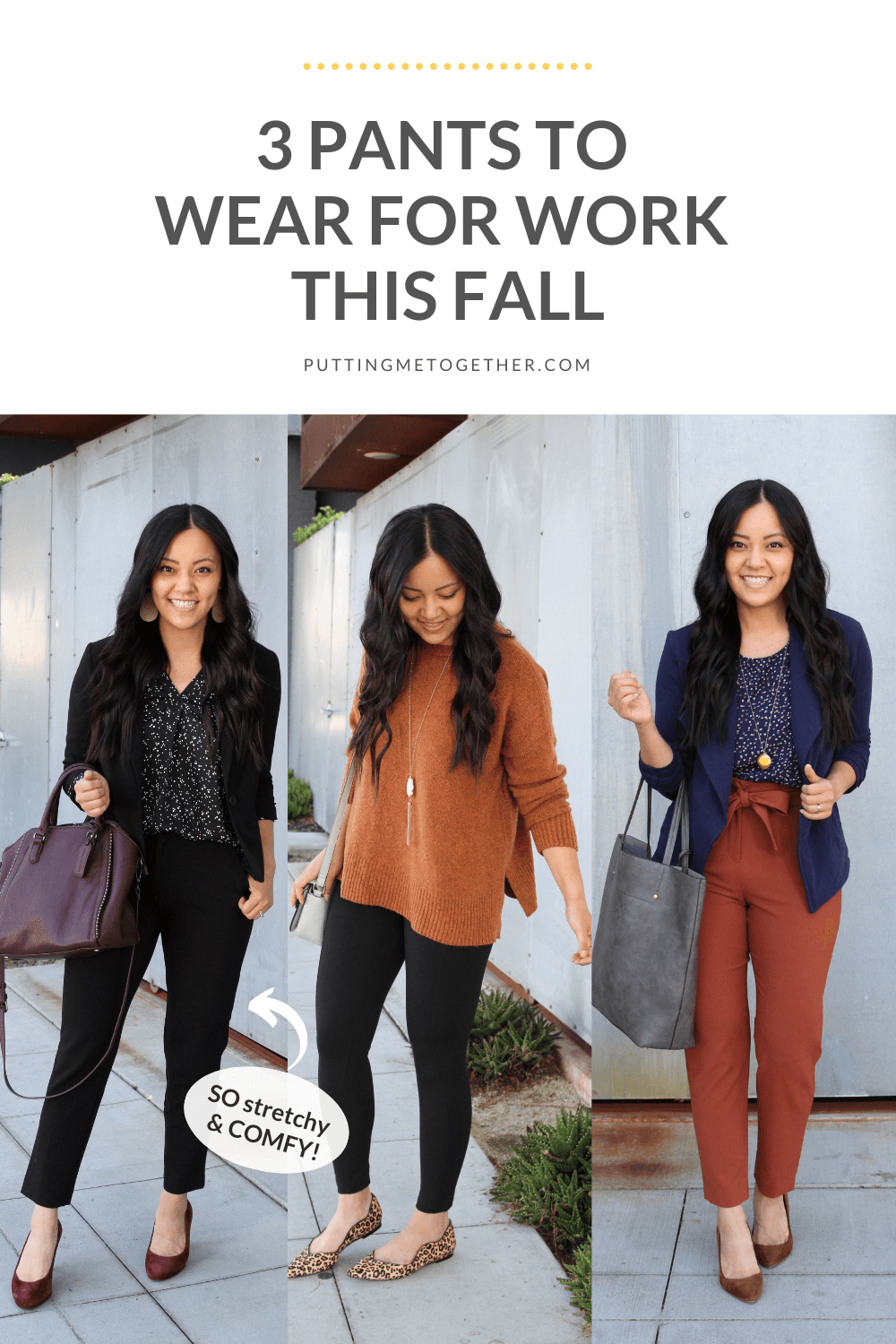 3 Pants for Work This Fall