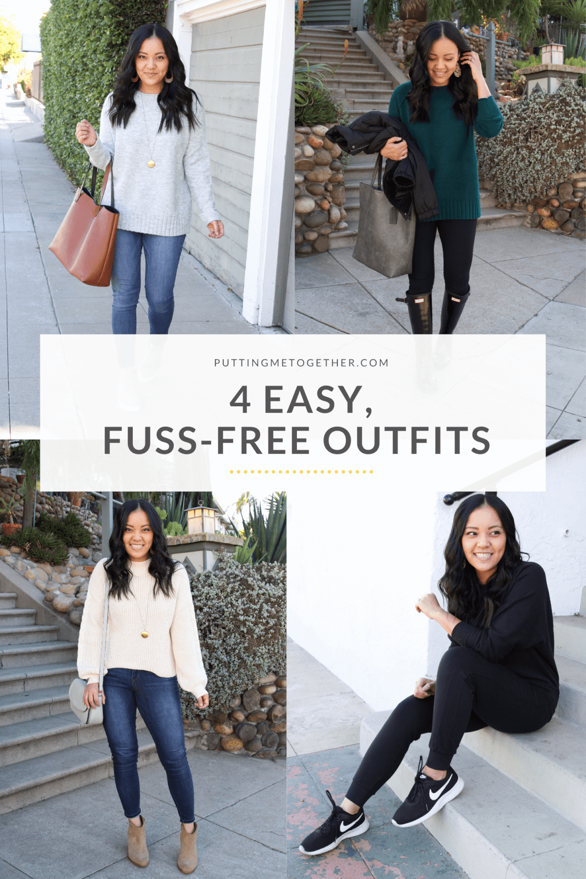 4 Easy, Fuss Free Outfits