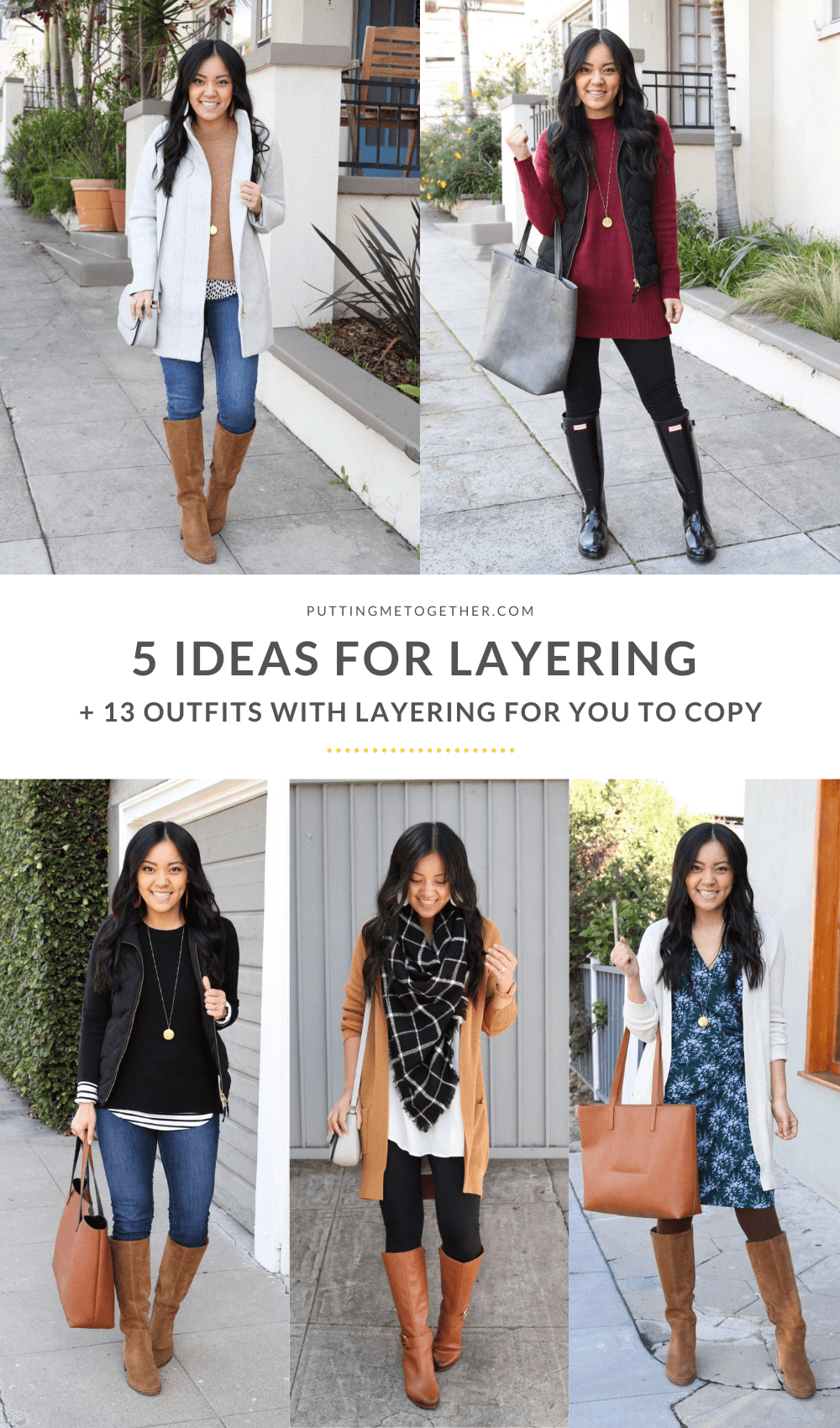 5 Ideas for Layering Your Outfits