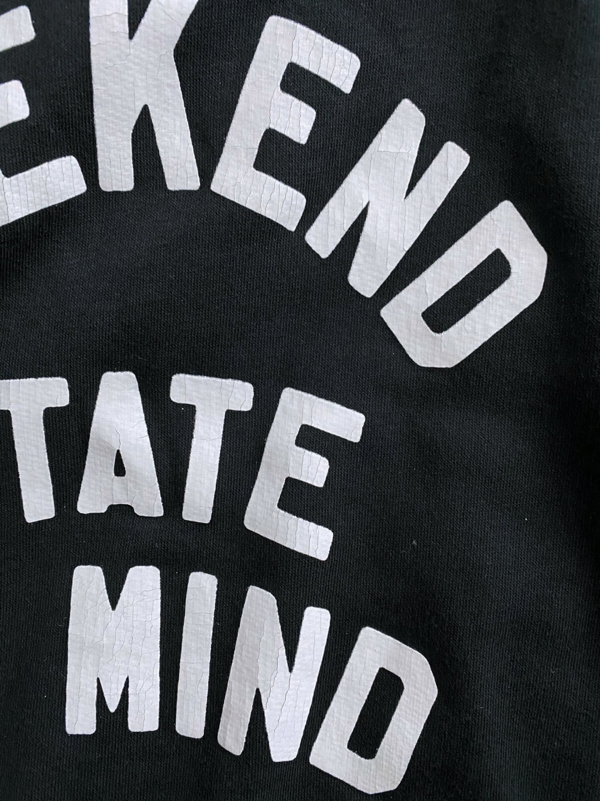 Old Navy Review: weekend state of mind sweatshirt close up