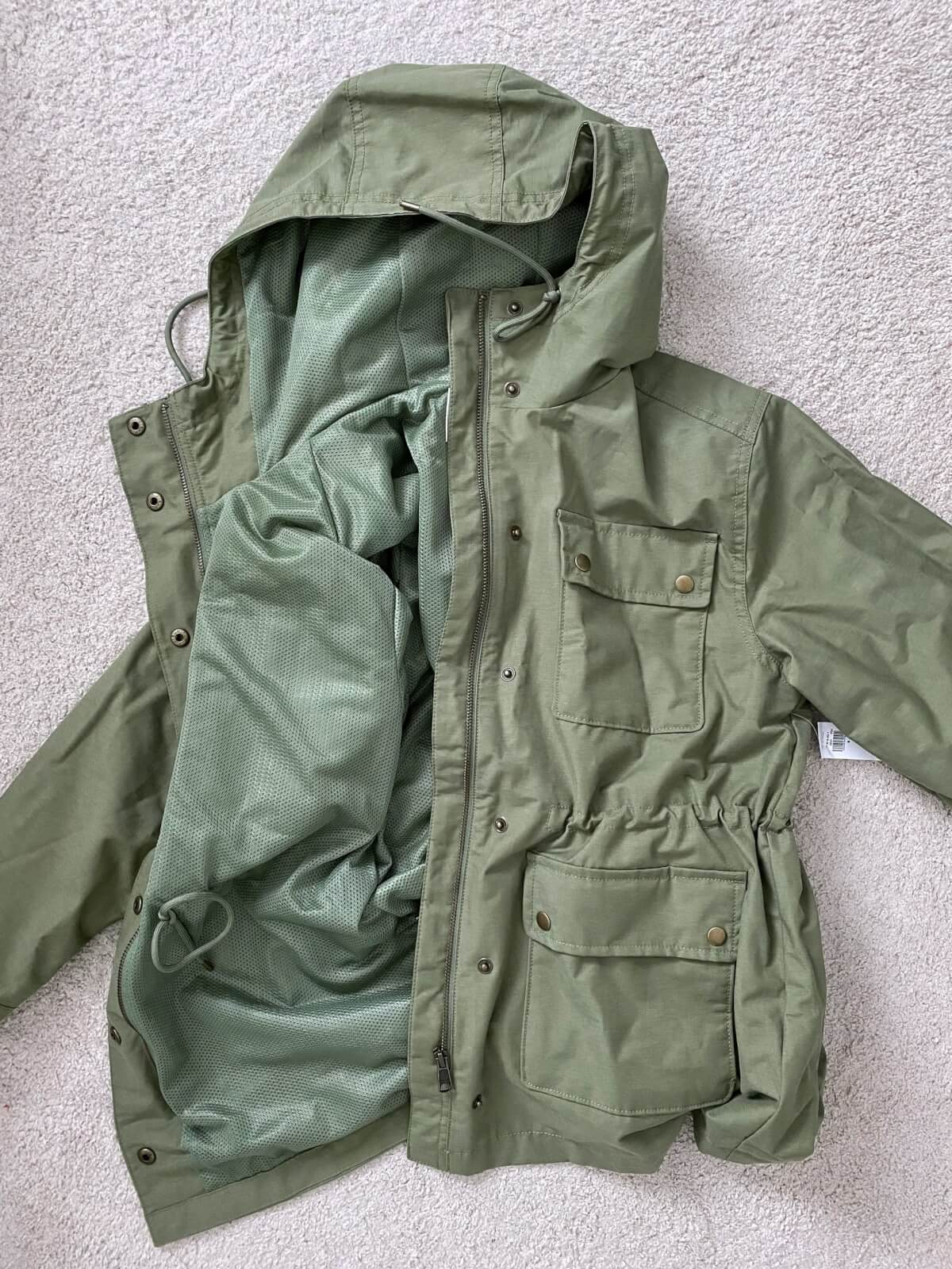 Old Navy Review: utility jacket rain coat