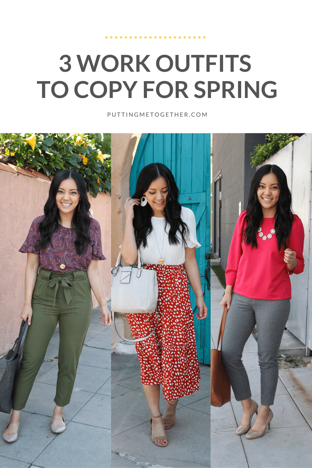 3 Spring Business Casual Outfits to Wear for Work