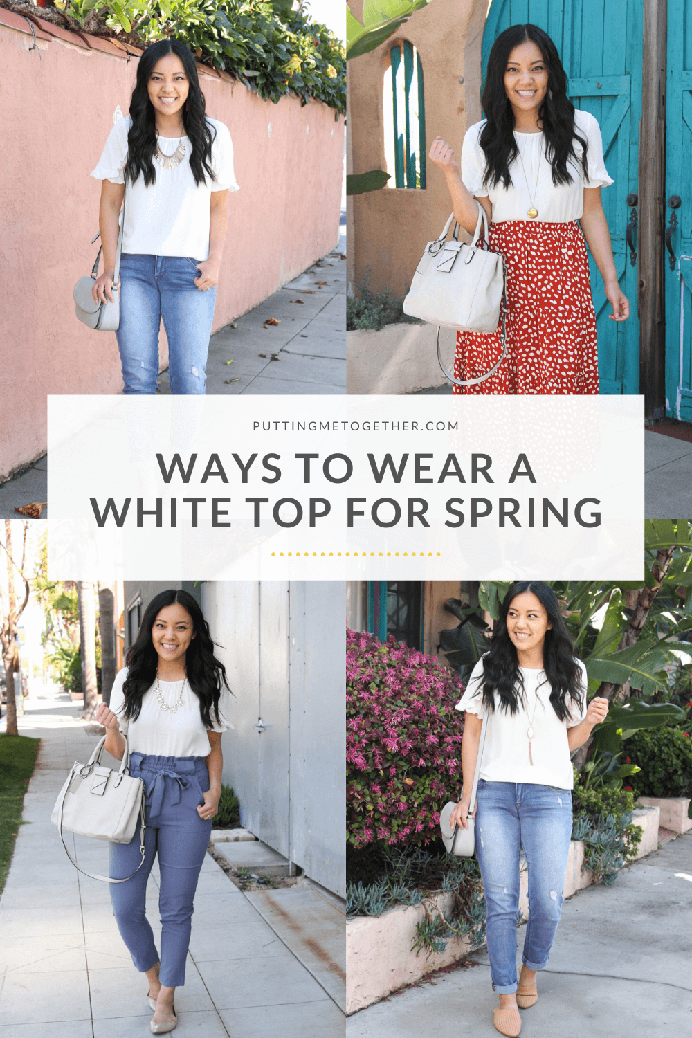 Different Ways to Wear a White Top for Spring