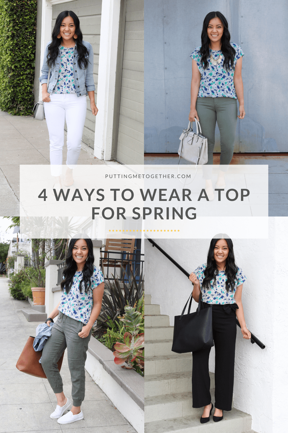 Four Ways to Wear a Top for Springtime