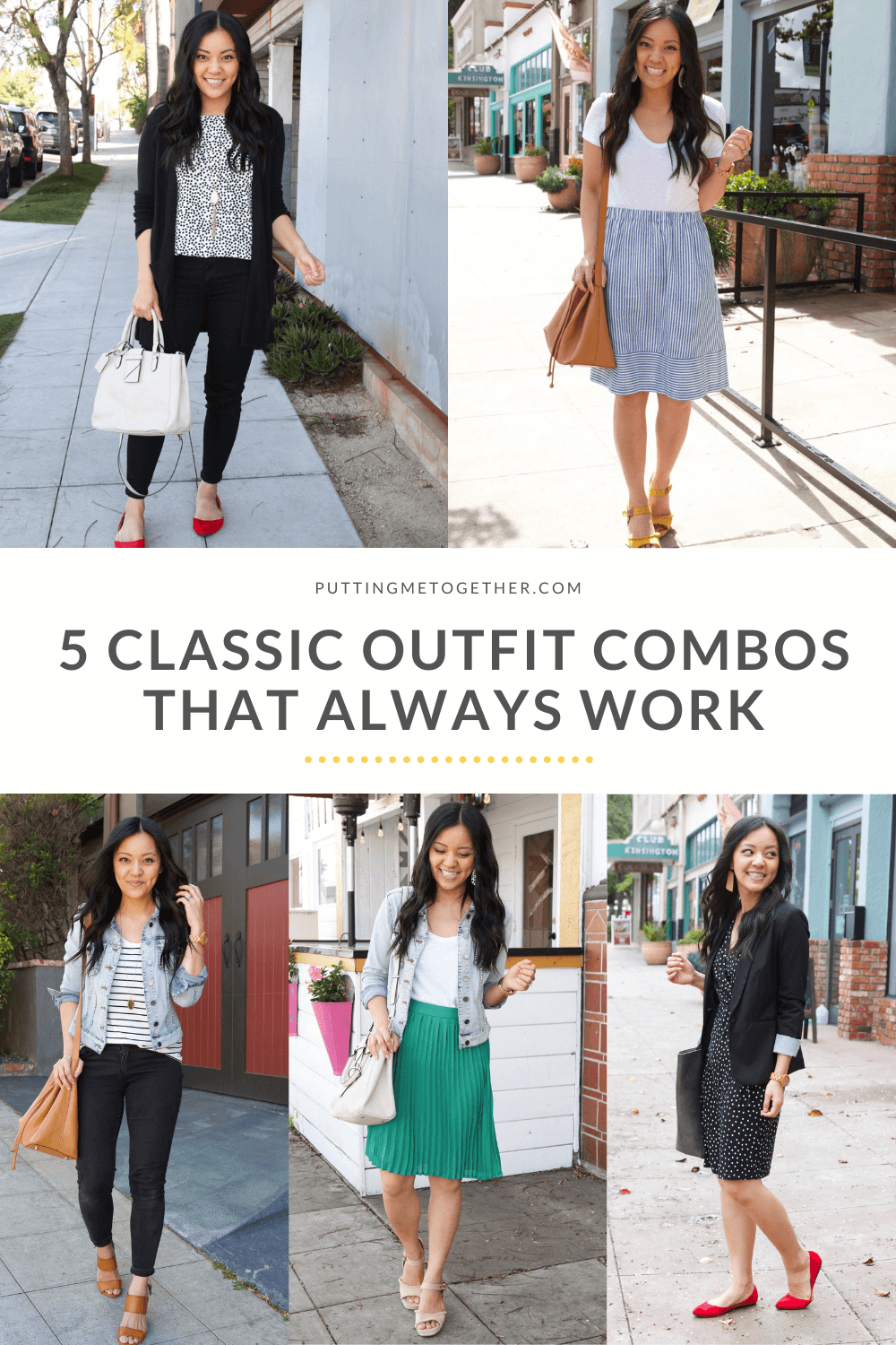 5 Classic Outfit Combos That Work All the Time
