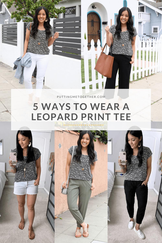 5 Ways to Wear a Leopard Tee