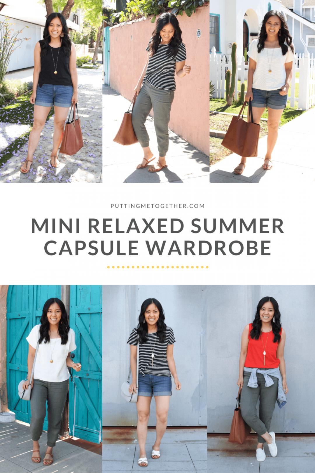 Mini Casual Summer Capsule Wardrobe