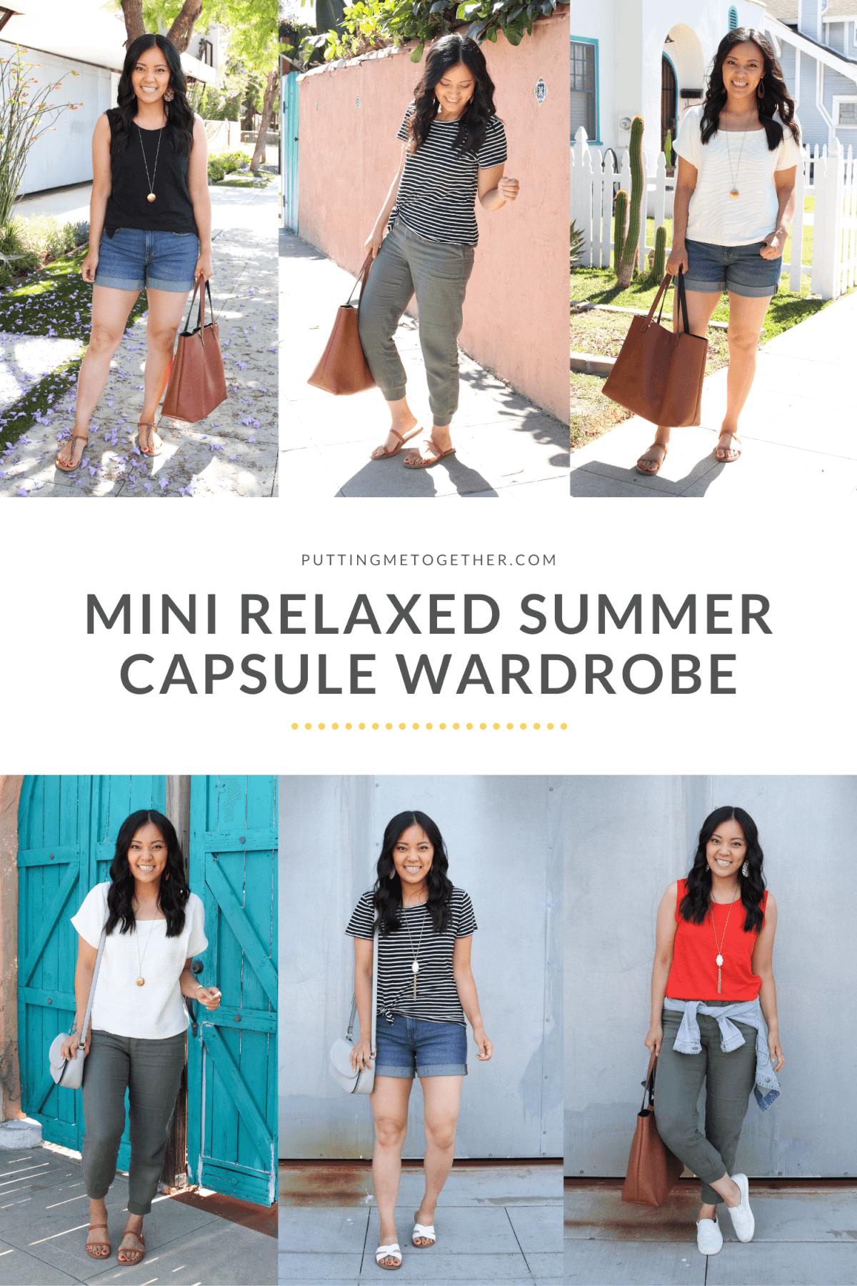 mini relaxed summer capsule wardrobe
