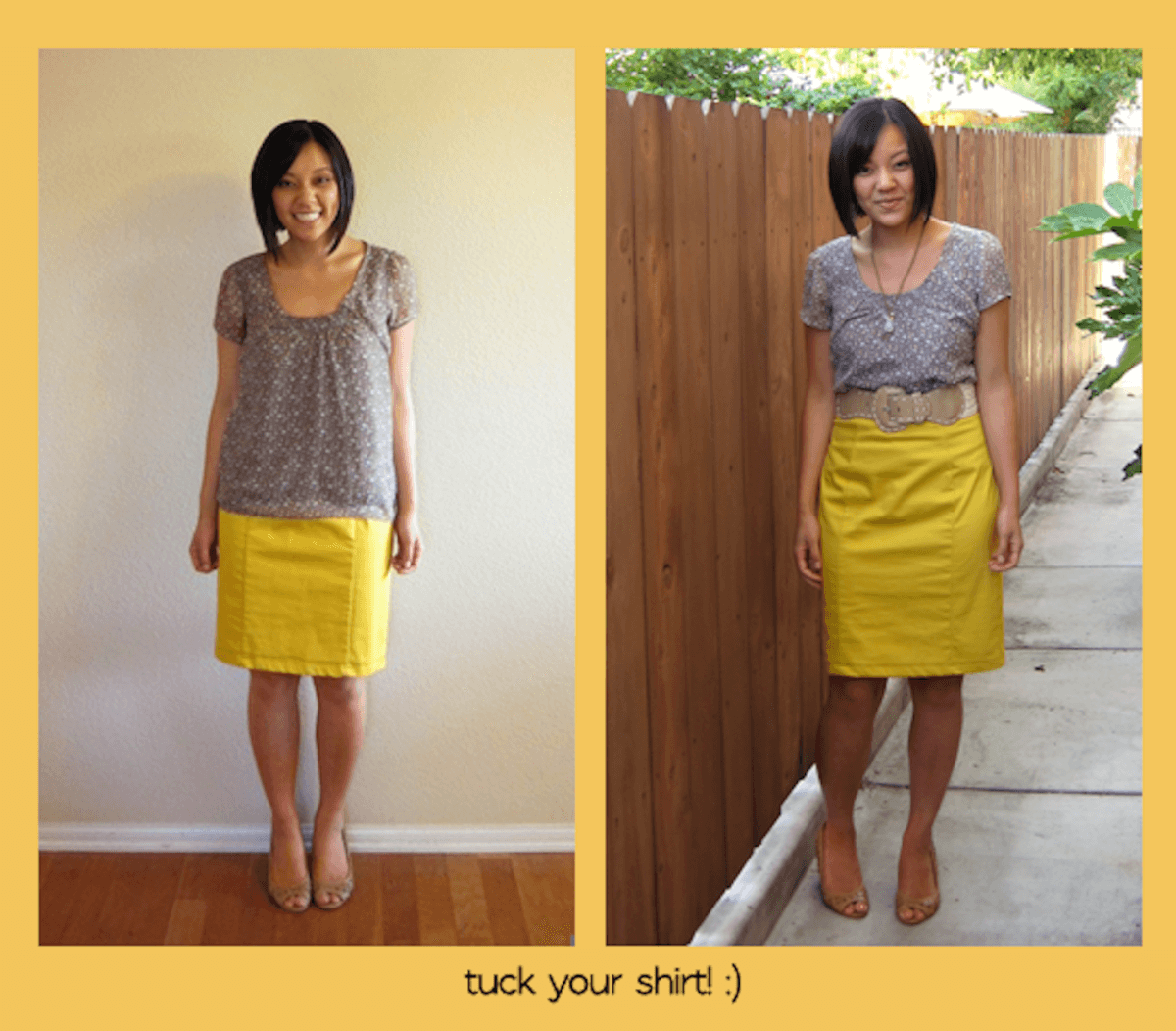 Building a Remixable Wardrobe: Tuck in Your Shirt